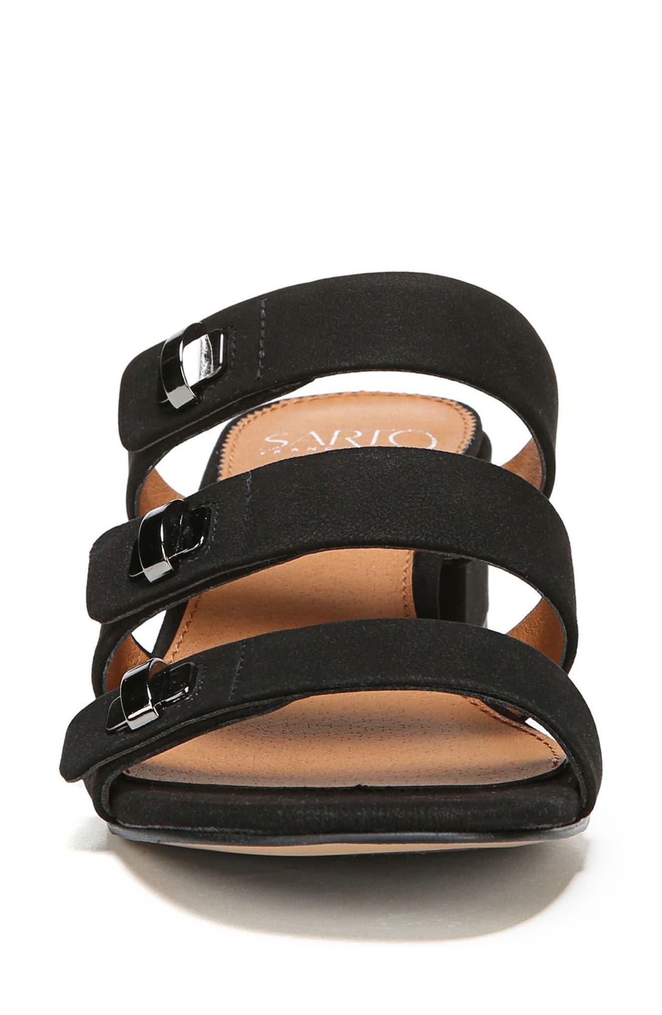 Arabesque Strappy Slide Sandal,                             Alternate thumbnail 4, color,                             001