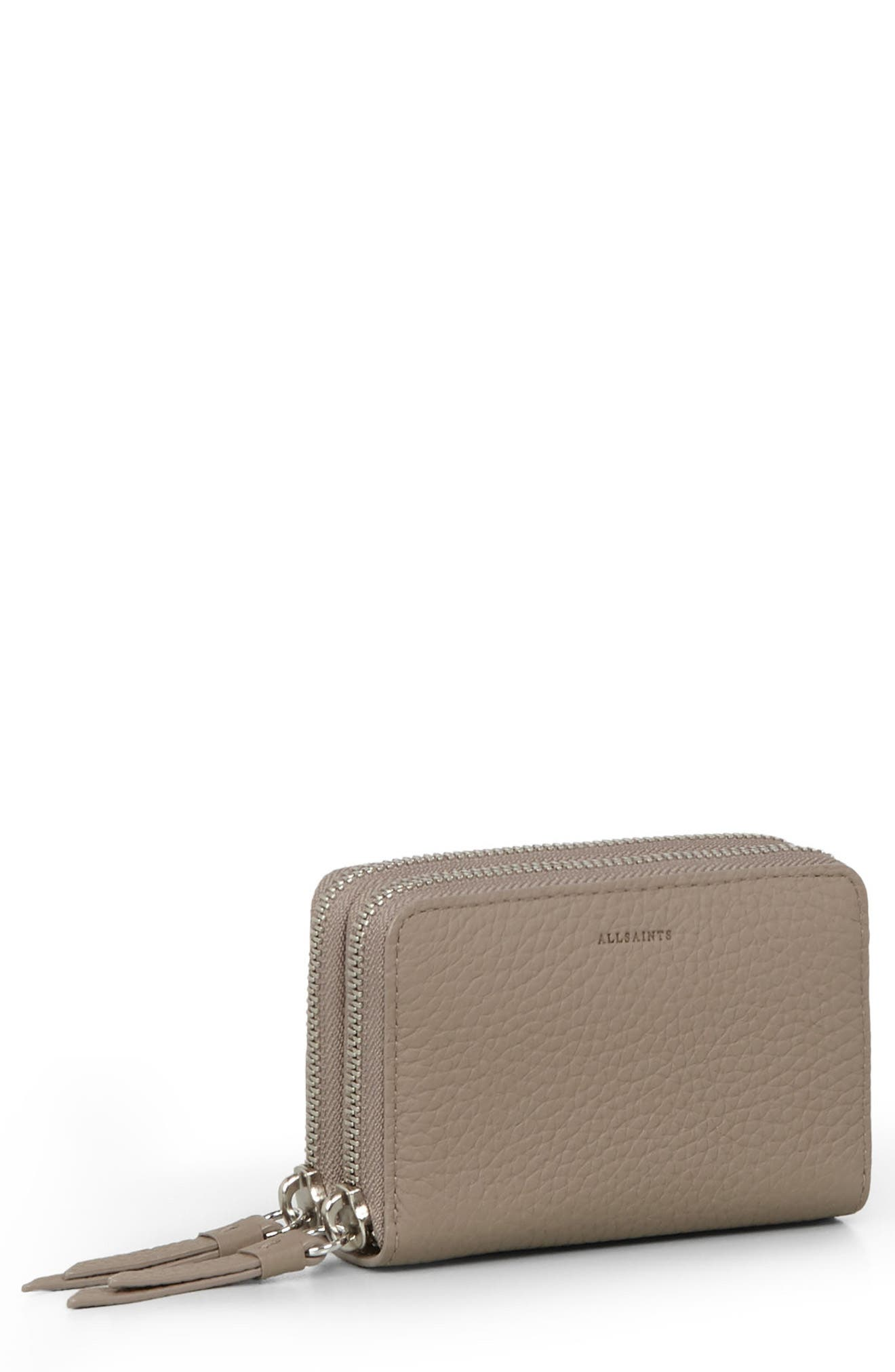 Fetch Leather Card Holder,                             Main thumbnail 2, color,