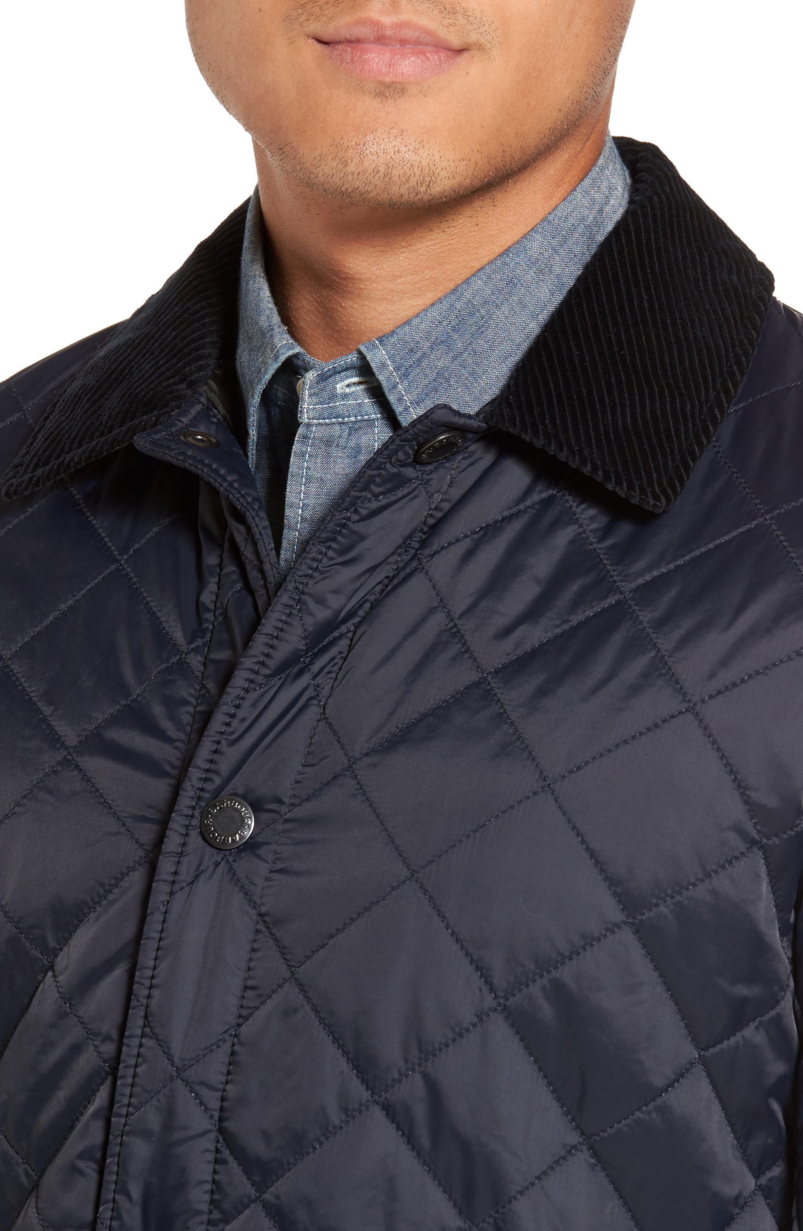 Holme Quilted Water-Resistant Jacket,                             Alternate thumbnail 4, color,                             NAVY