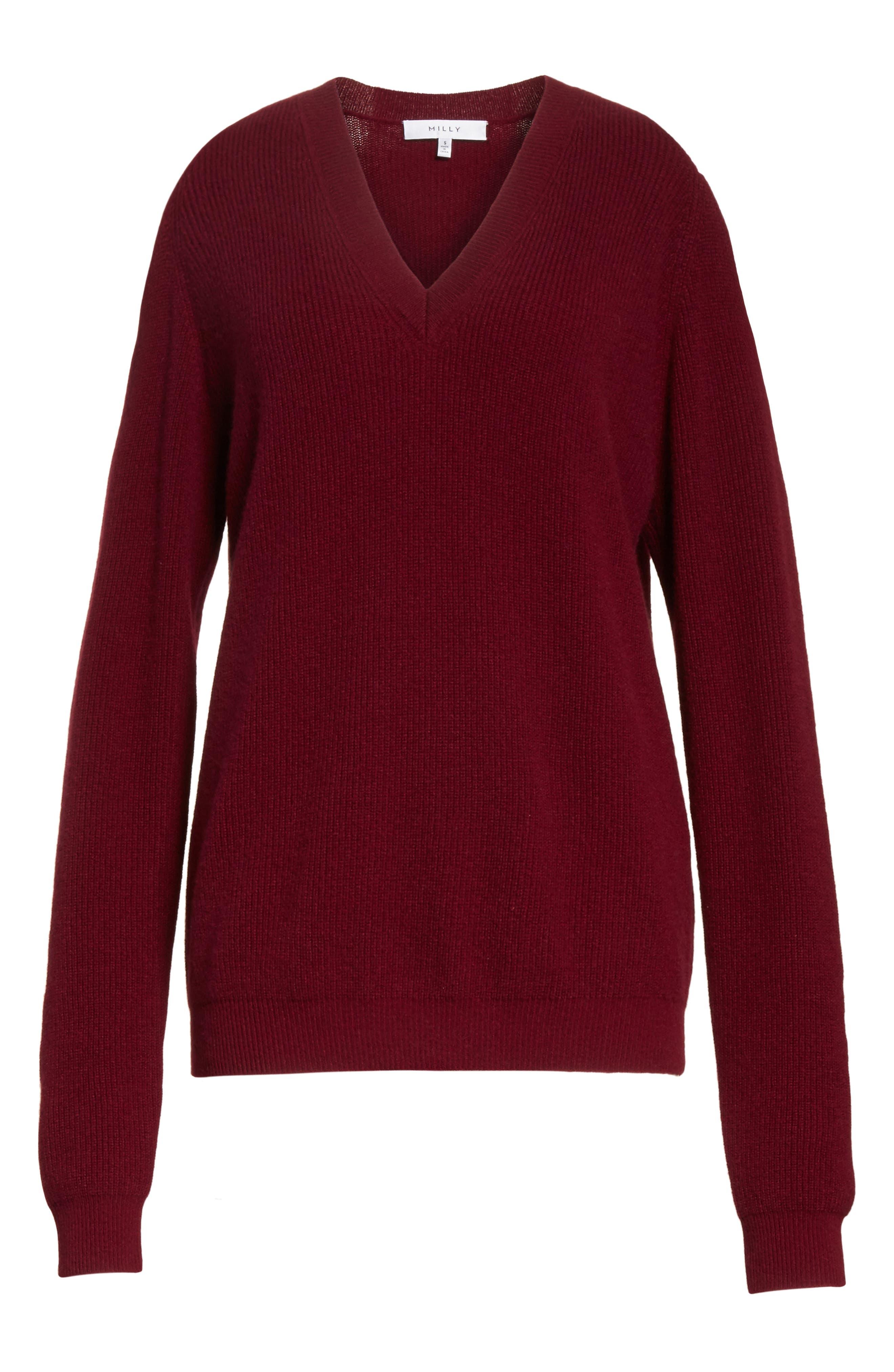 Cold Shoulder Cashmere Pullover,                             Alternate thumbnail 12, color,