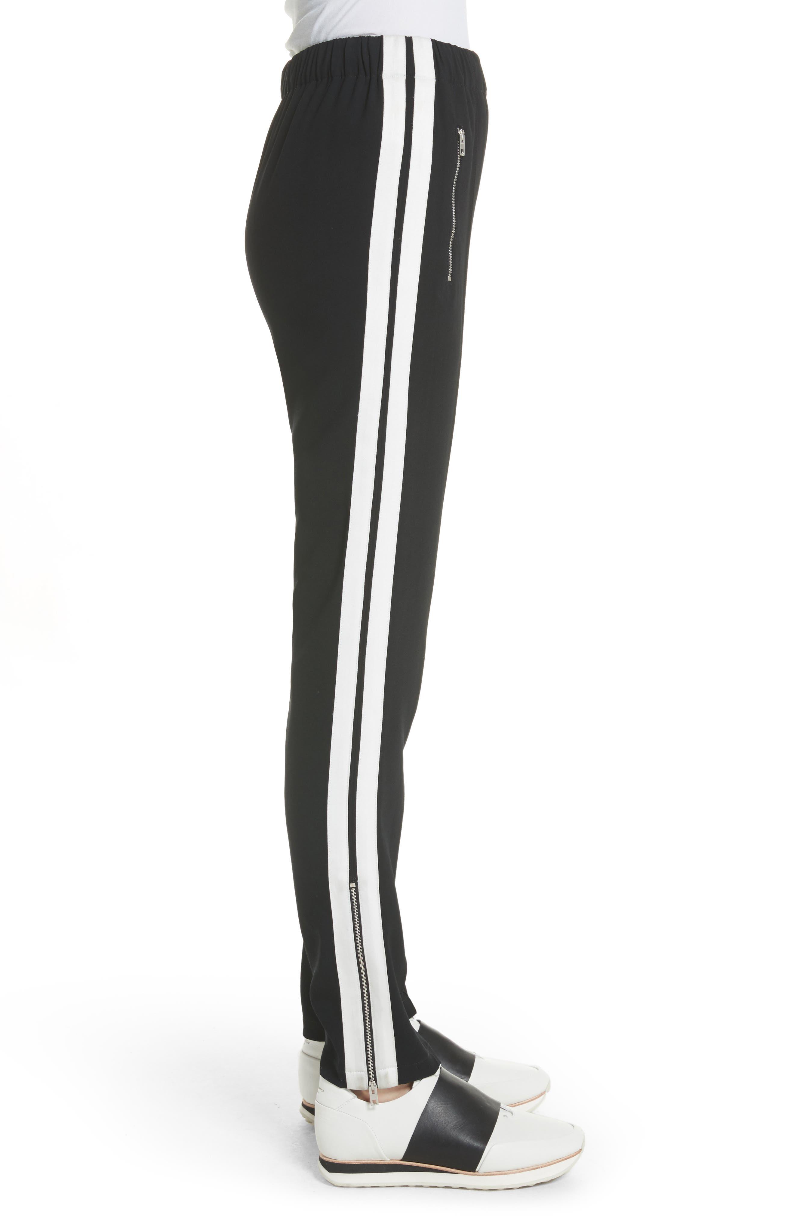 Milo Track Pants,                             Alternate thumbnail 3, color,                             BLACK/ WHITE