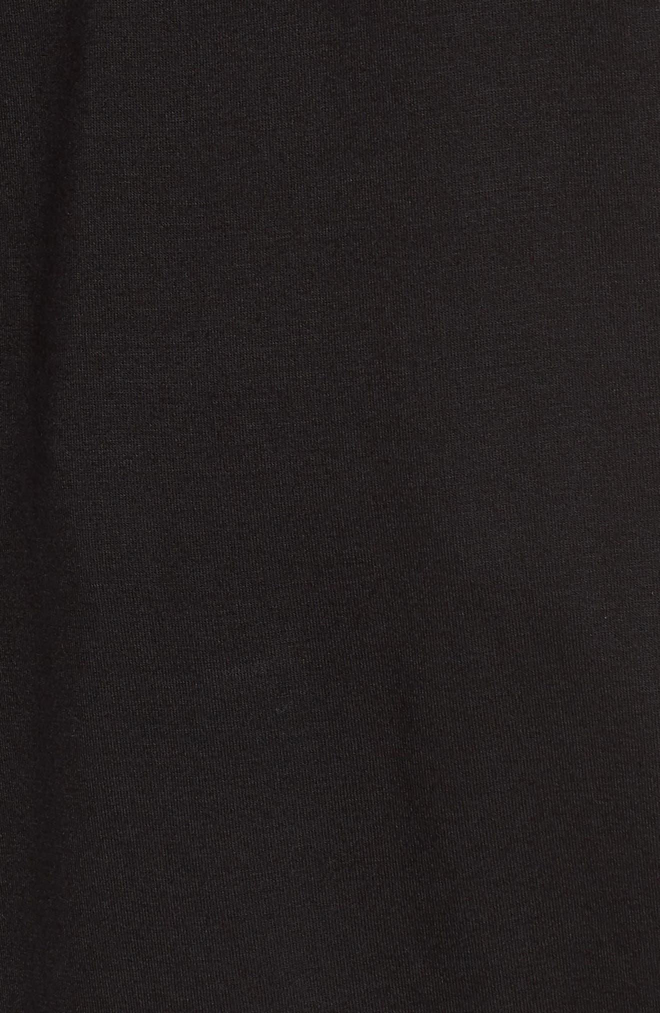 Drape Knit Tank,                             Alternate thumbnail 6, color,                             001