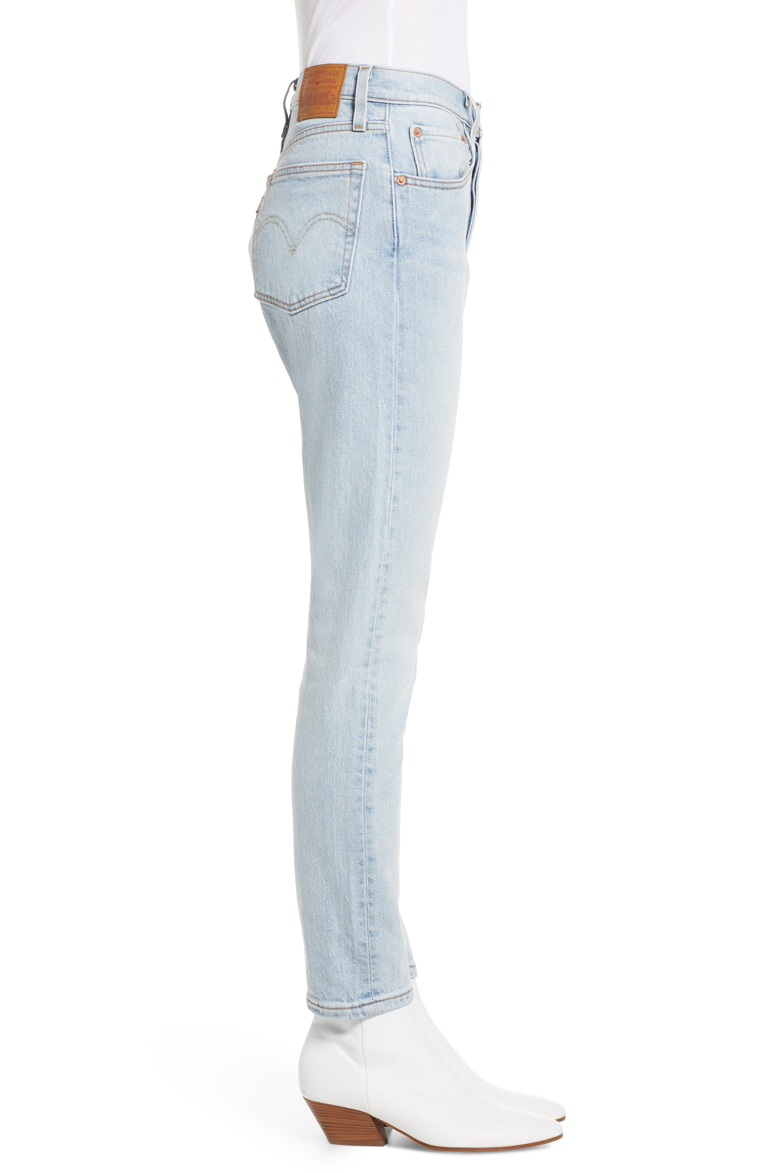 501<sup>®</sup> Ankle Slim Jeans,                             Alternate thumbnail 3, color,                             450