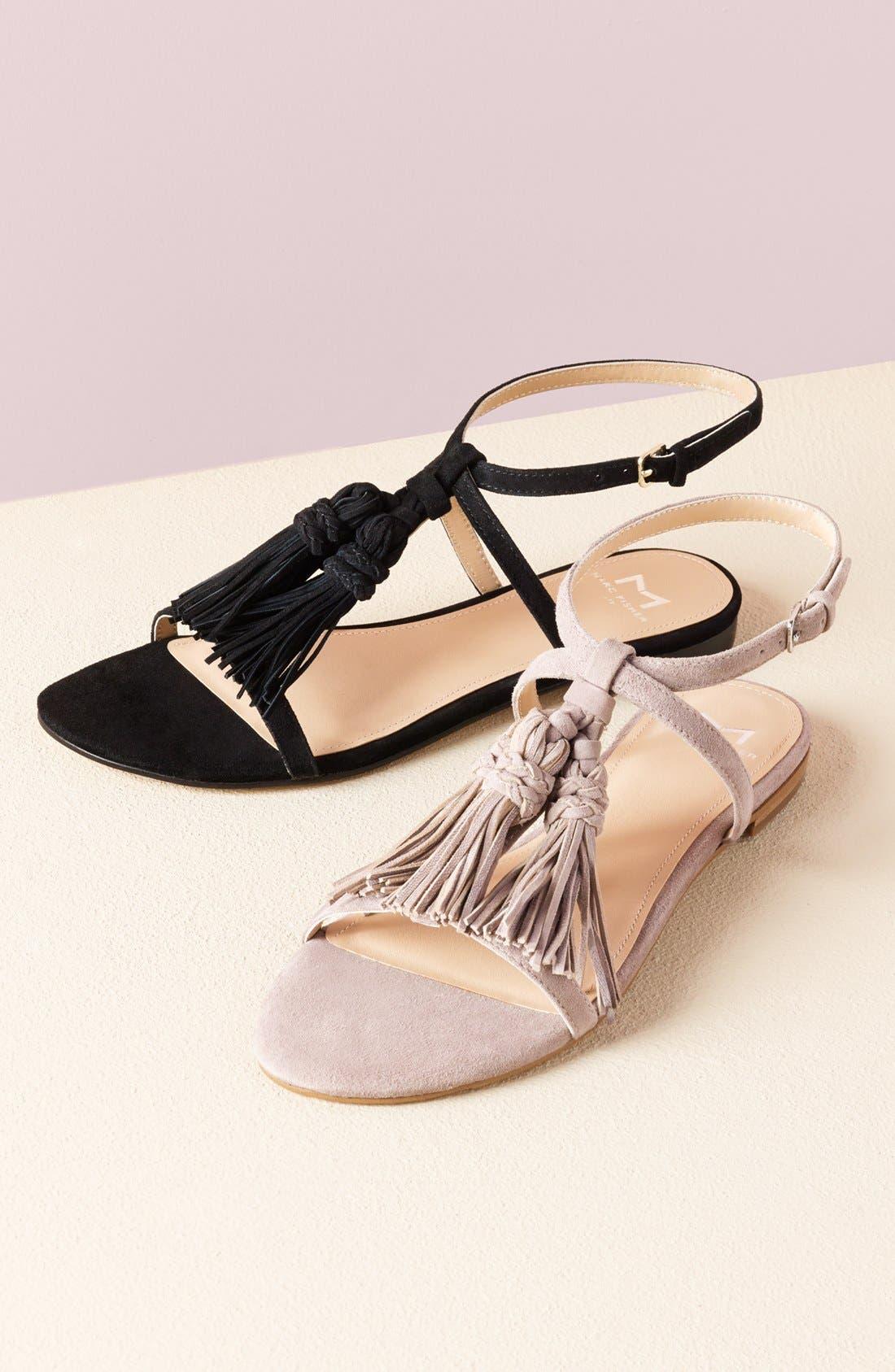 'Crystal' Tassel Flat Sandal,                             Main thumbnail 1, color,                             211