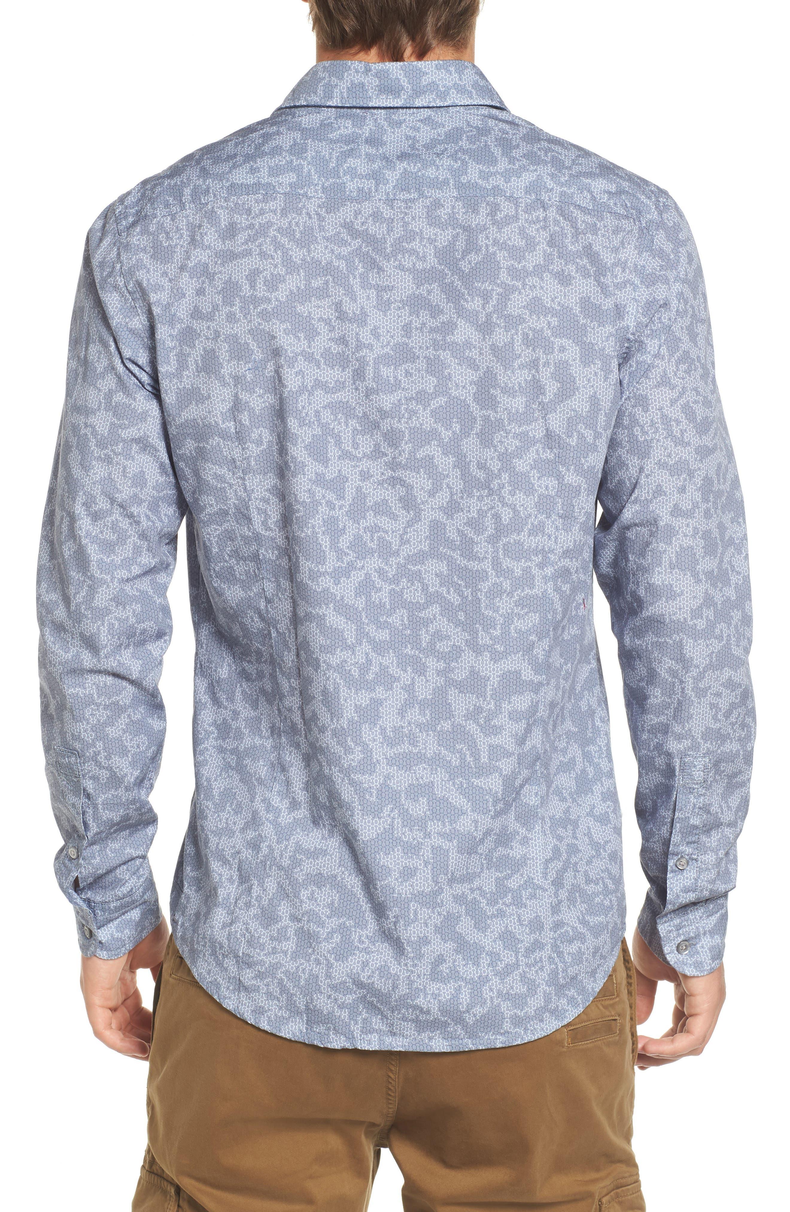 Print Woven Shirt,                             Alternate thumbnail 2, color,                             415