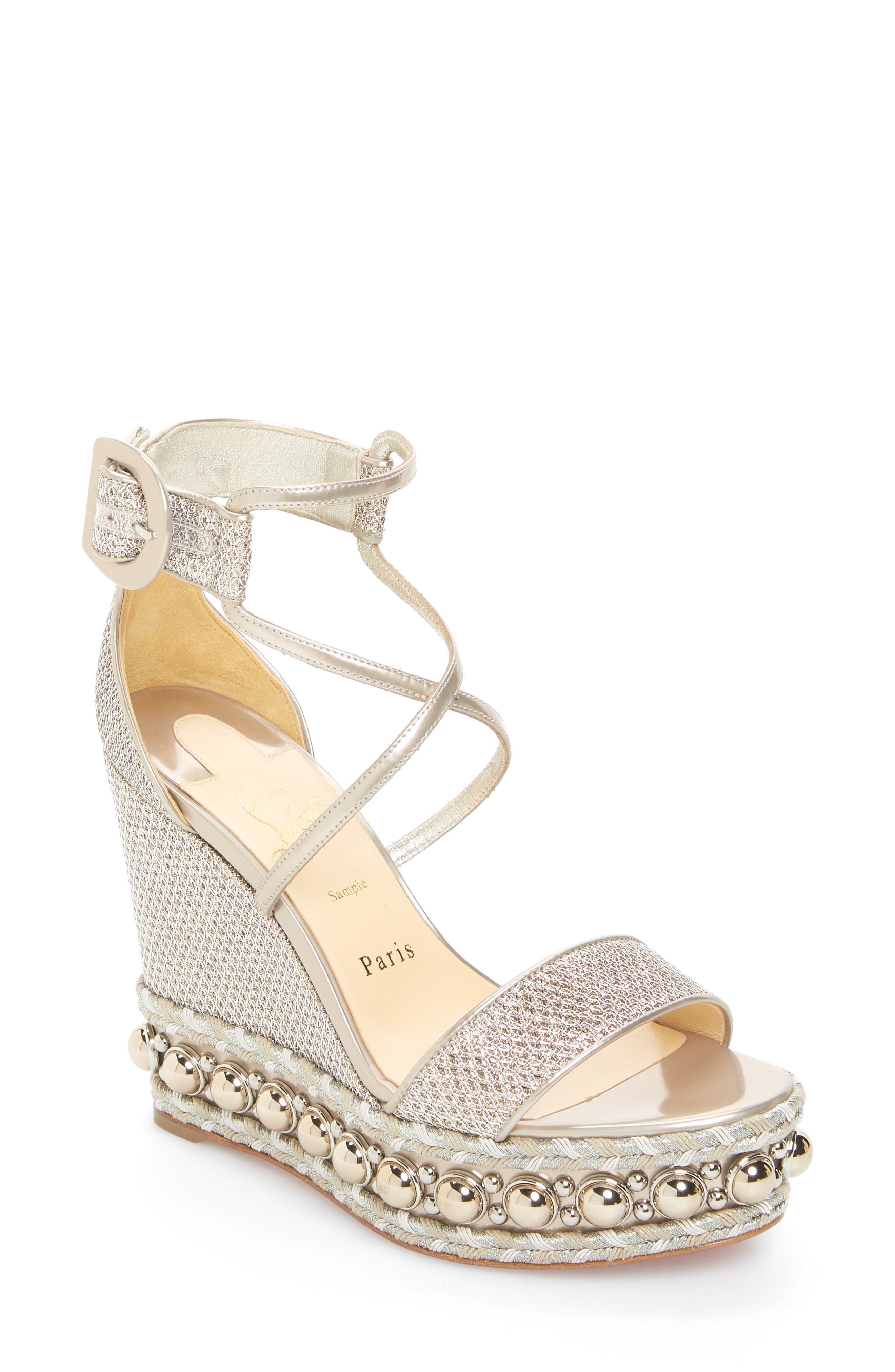 Chocazeppa Studded Wedge,                             Main thumbnail 1, color,                             COLOMBE