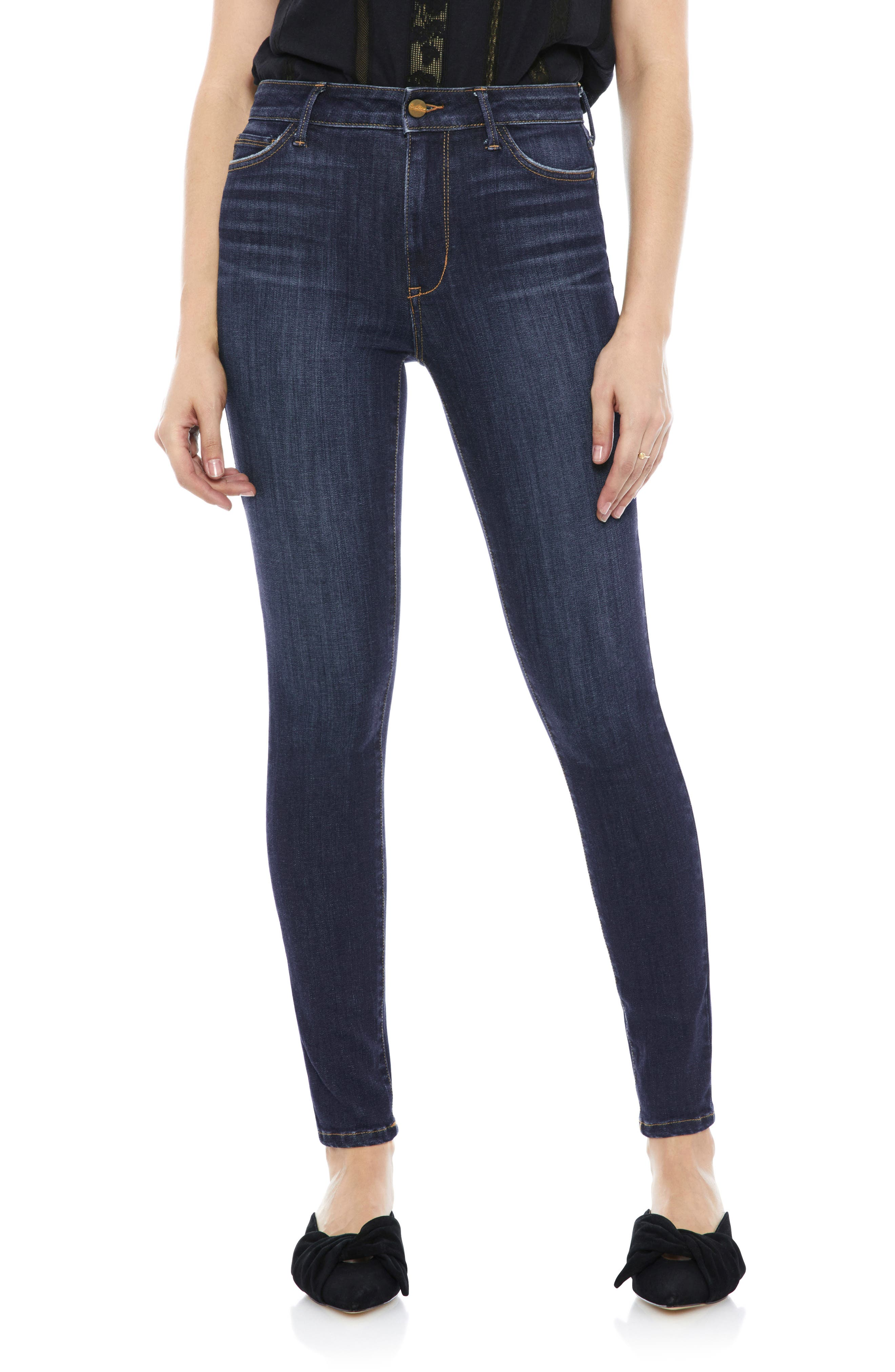 The Stiletto High Rise Skinny Jeans, Main, color, EDDIE