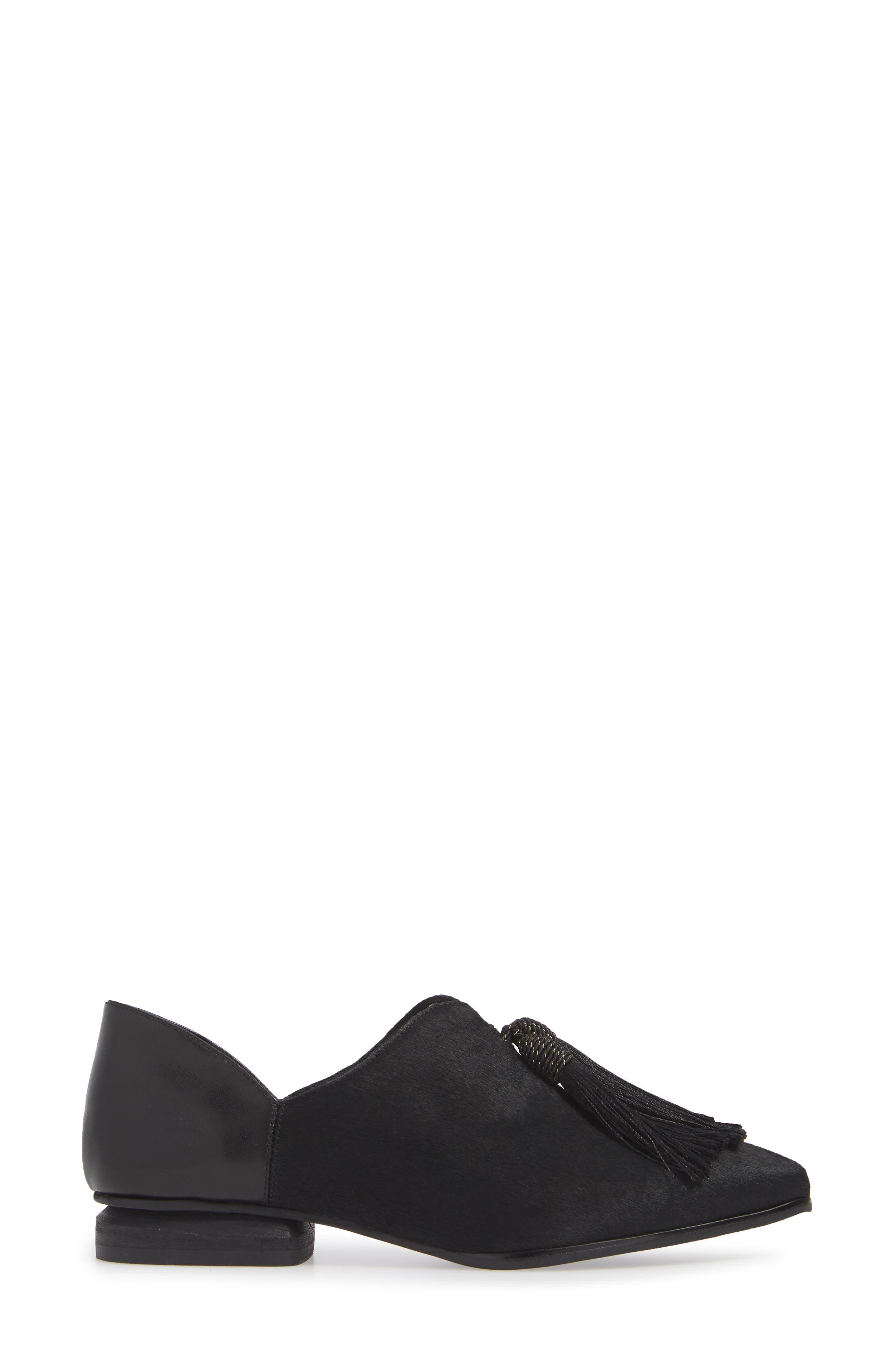 SBICCA,                             Primwood Tassel Loafer,                             Alternate thumbnail 3, color,                             BLACK LEATHER