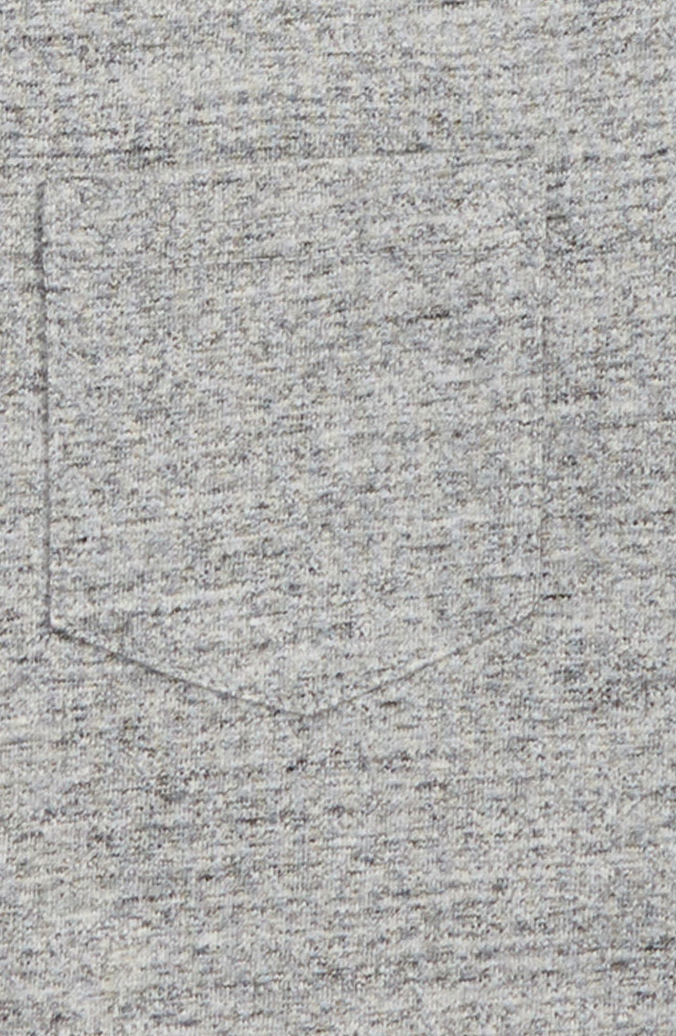 Stripe Raglan Sweatshirt,                             Alternate thumbnail 2, color,                             GREY MARL JASPE