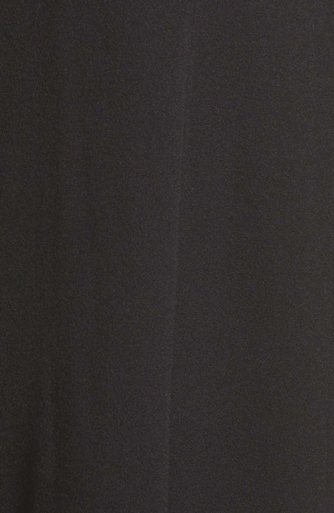 Point Collar Long Cashmere Coat,                             Alternate thumbnail 3, color,                             001