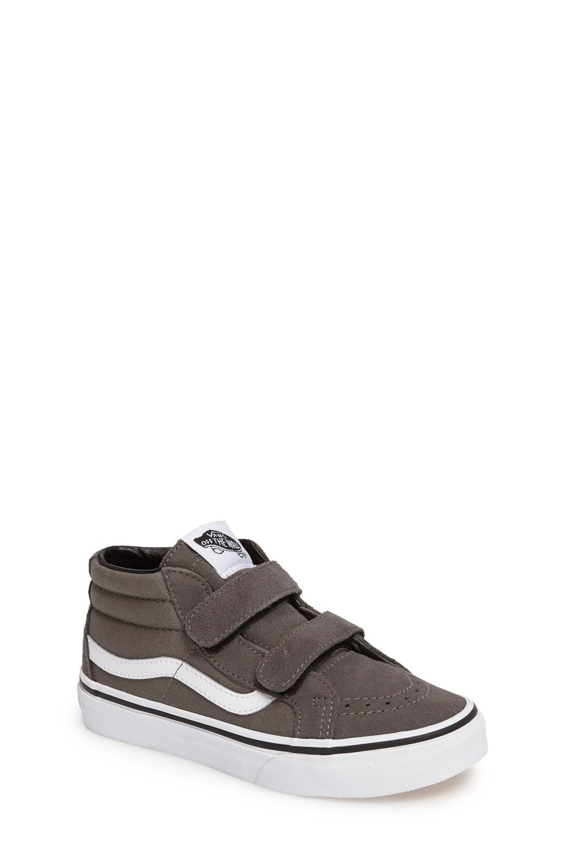 SK8 Mid-Top Reissue Sneaker,                         Main,                         color, GREY FABRIC
