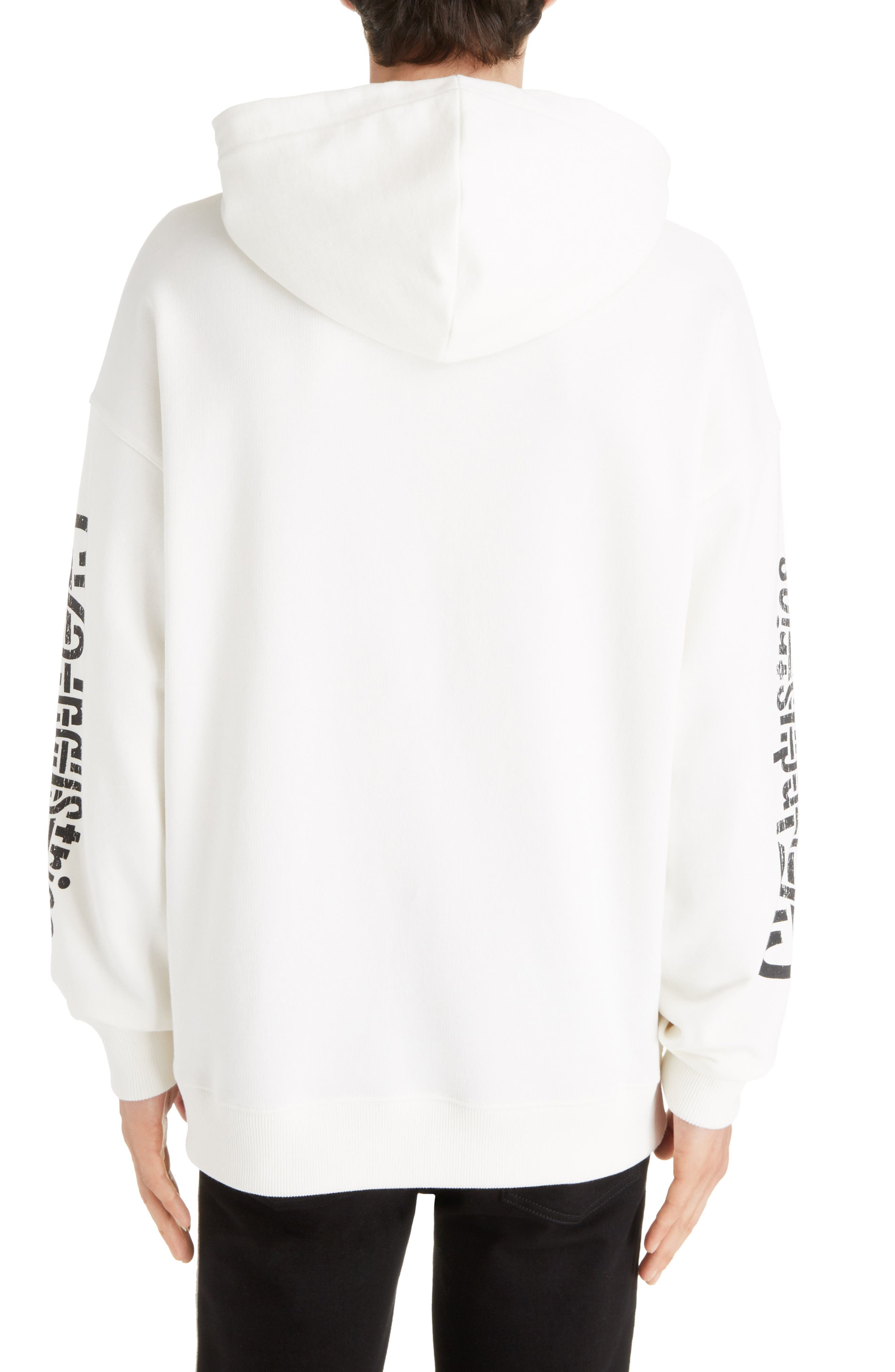 GIVENCHY,                             Taurus Hoodie,                             Alternate thumbnail 2, color,                             OFF WHITE