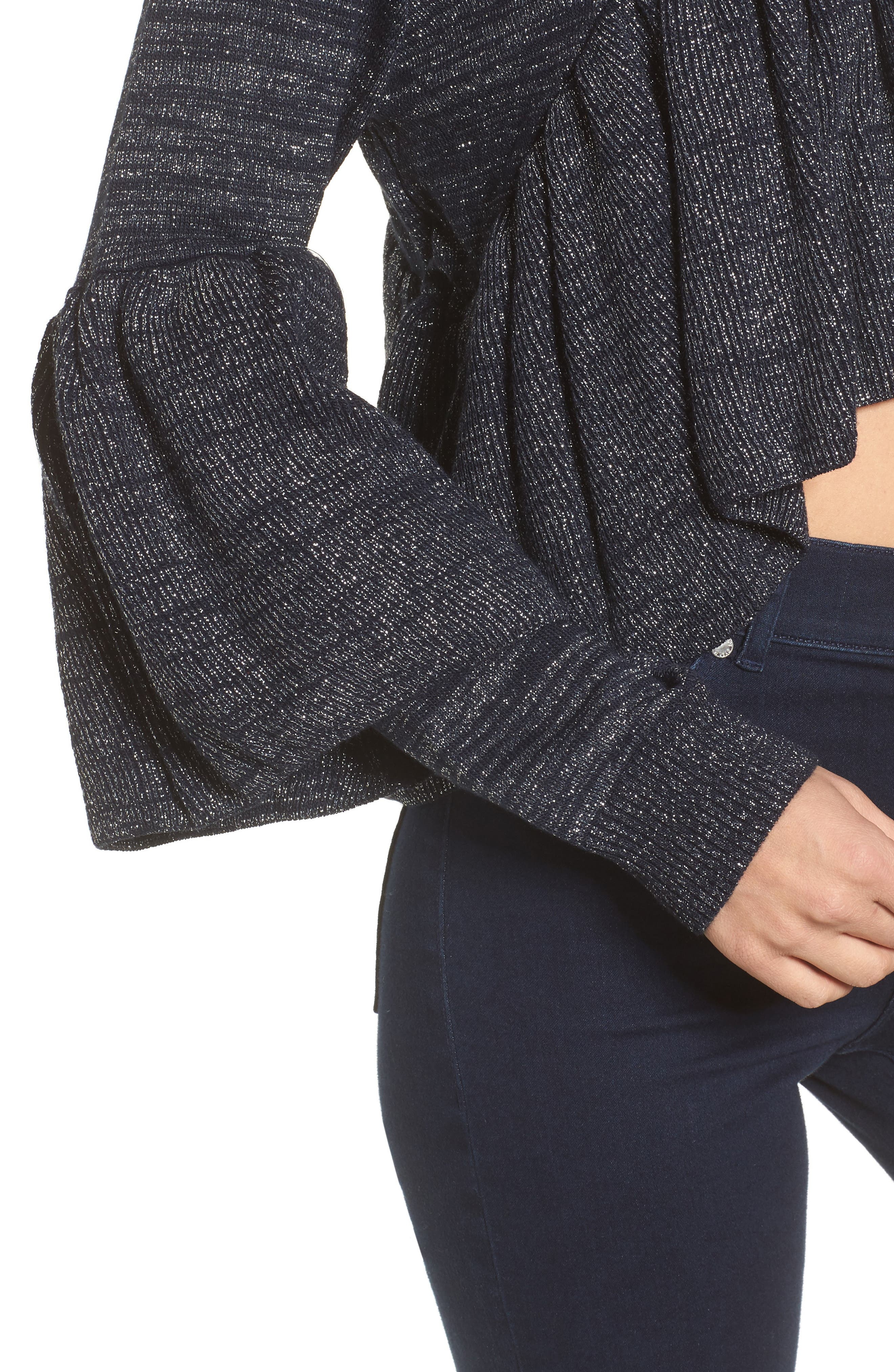 Ruffle Sweater,                             Alternate thumbnail 4, color,                             400
