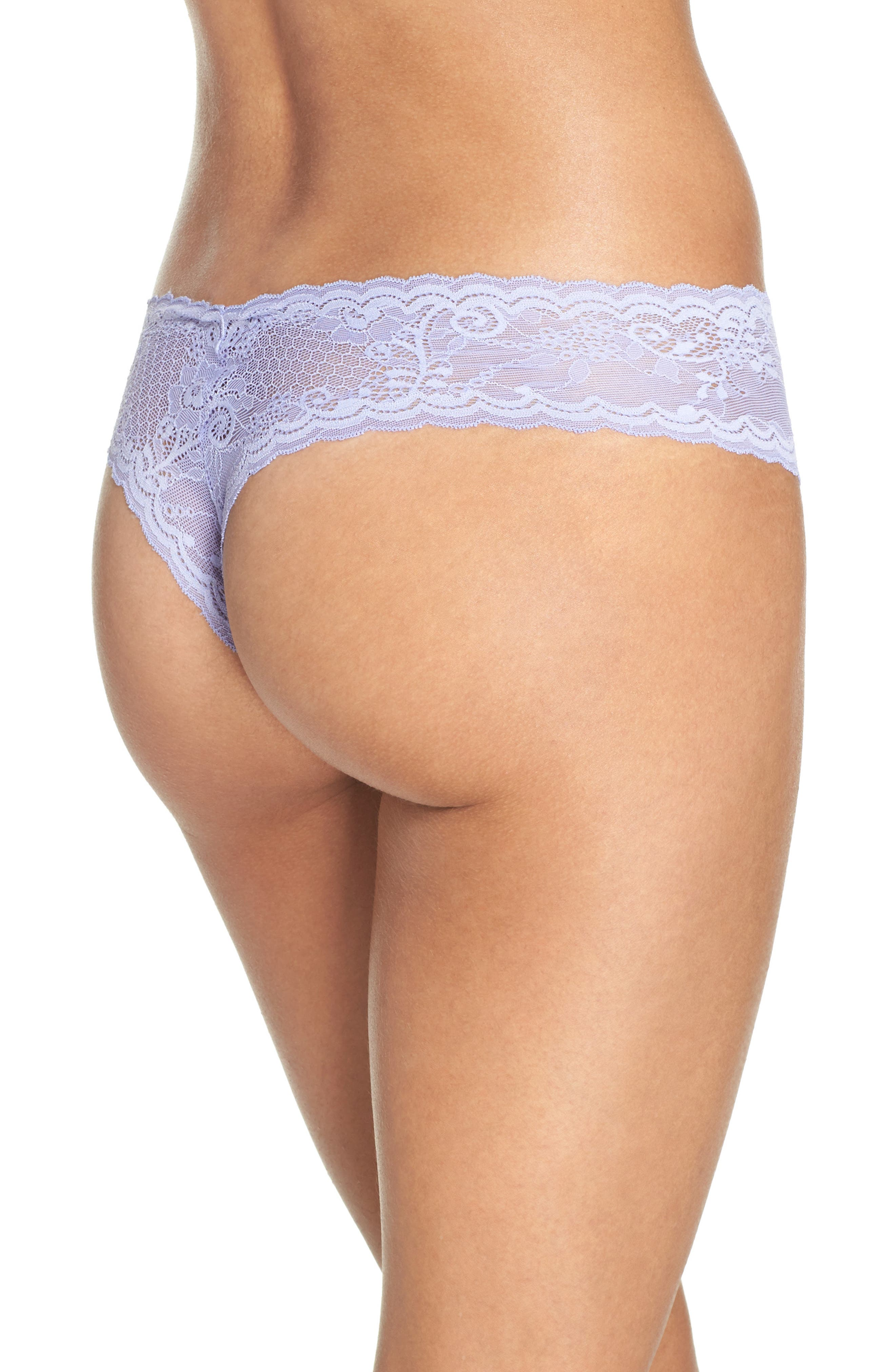 'Trenta' Low Rise Lace Thong,                             Alternate thumbnail 57, color,