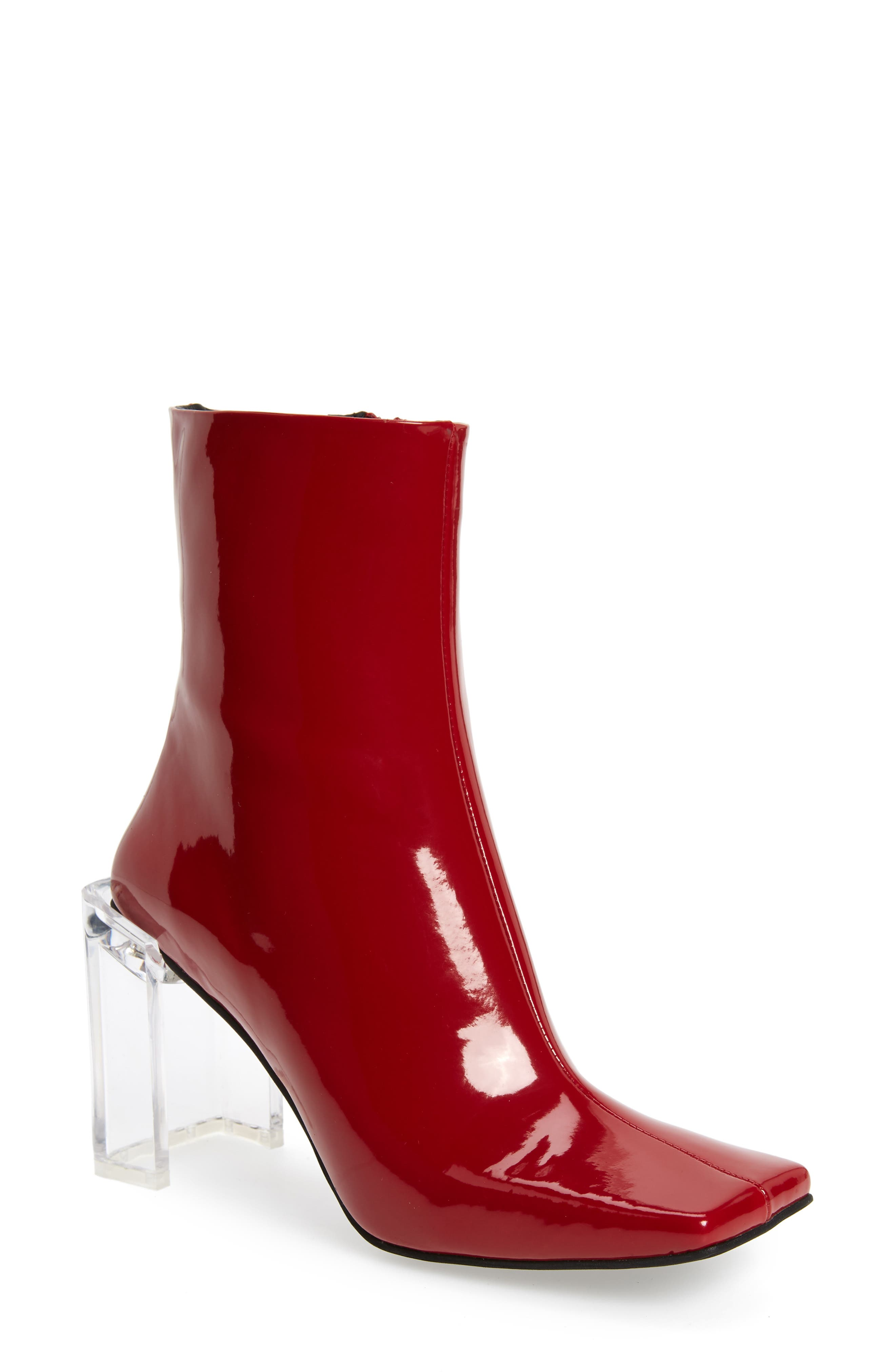 Jeffrey Campbell Kayak 2 Bootie- Red