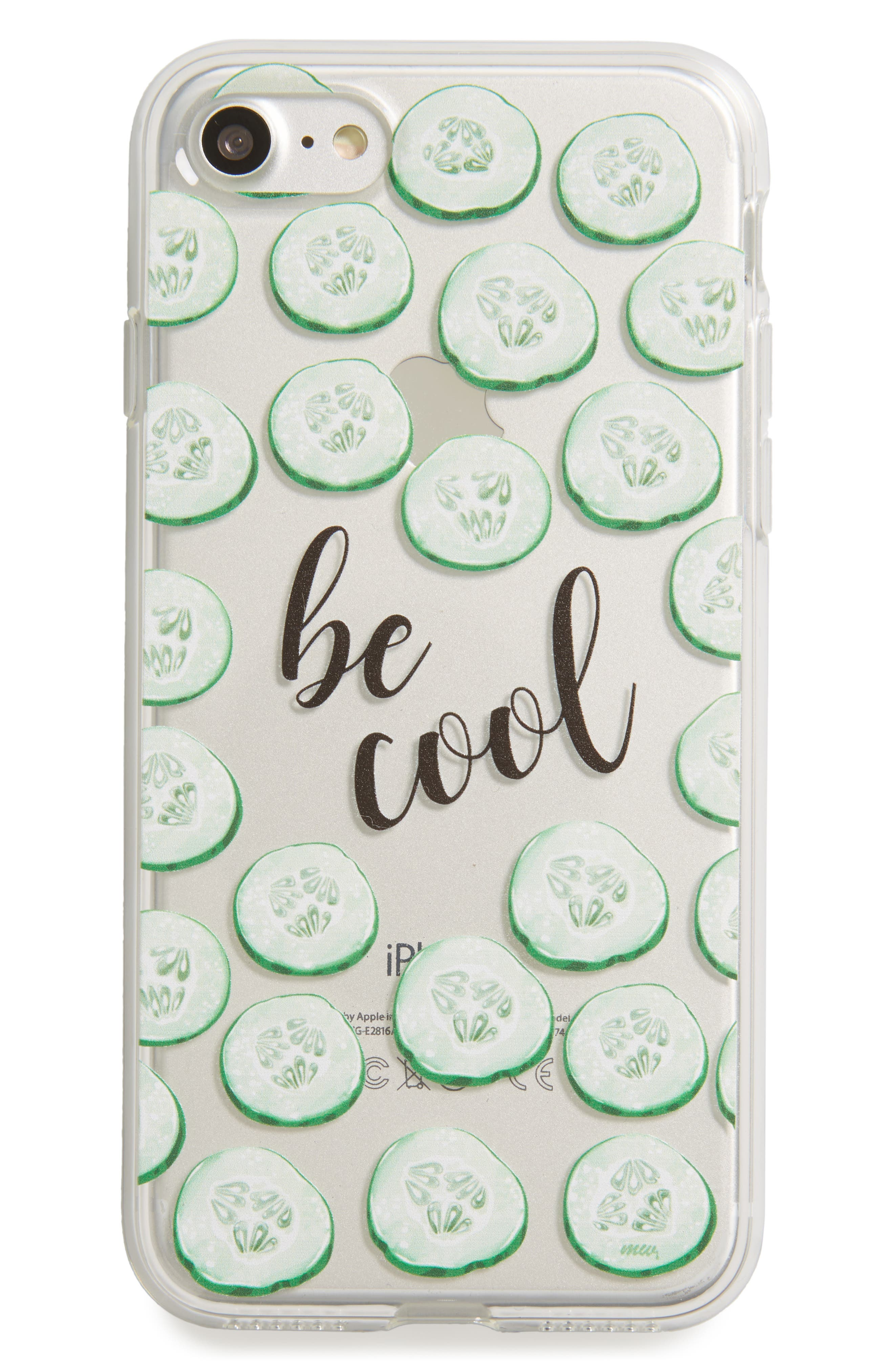 Be Cool Cucumbers iPhone 7 Case,                             Main thumbnail 1, color,                             300
