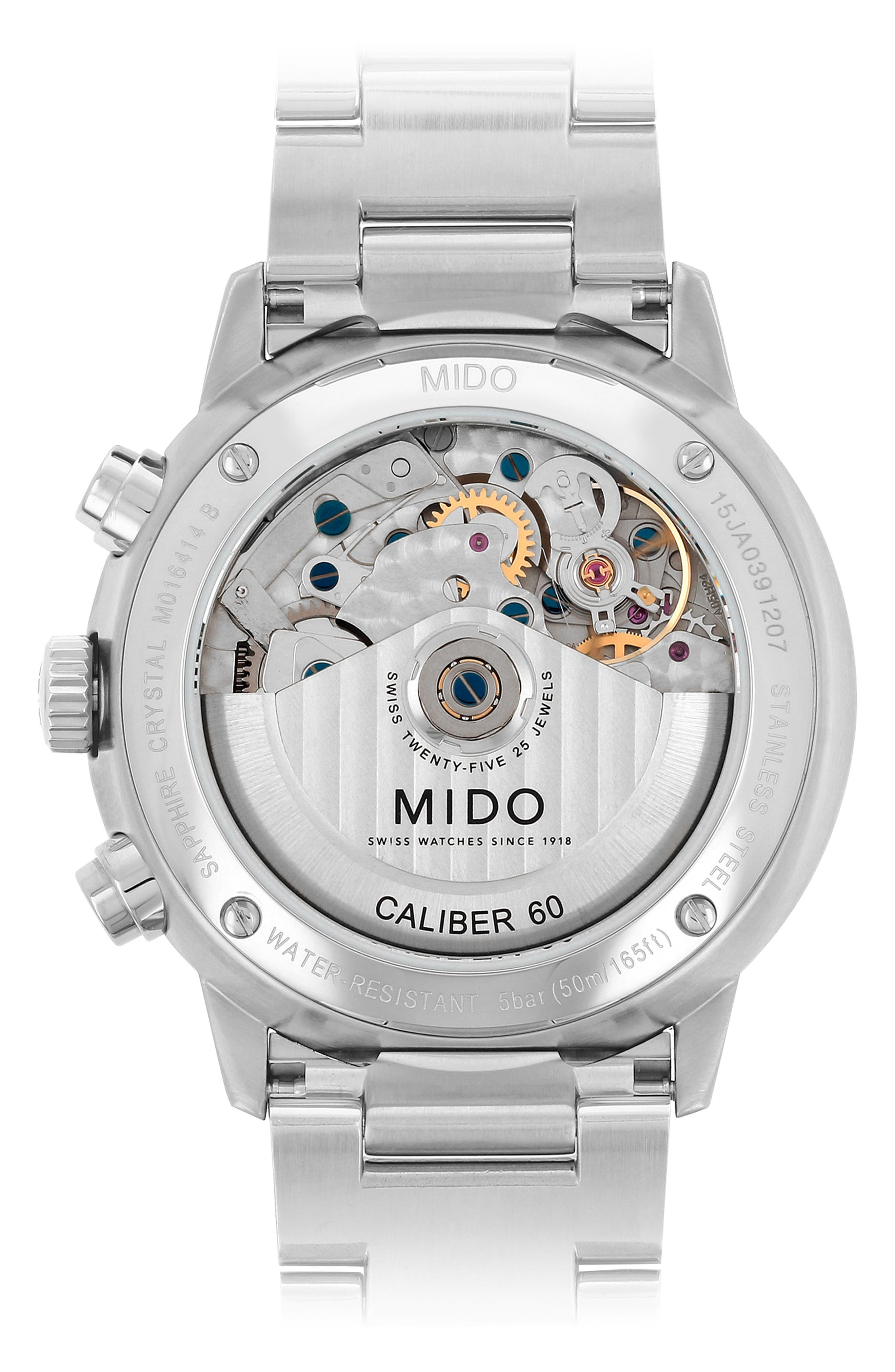 Commander Chronometer Bracelet Watch, 42mm,                             Alternate thumbnail 2, color,                             SILVER/ BLUE/ SILVER