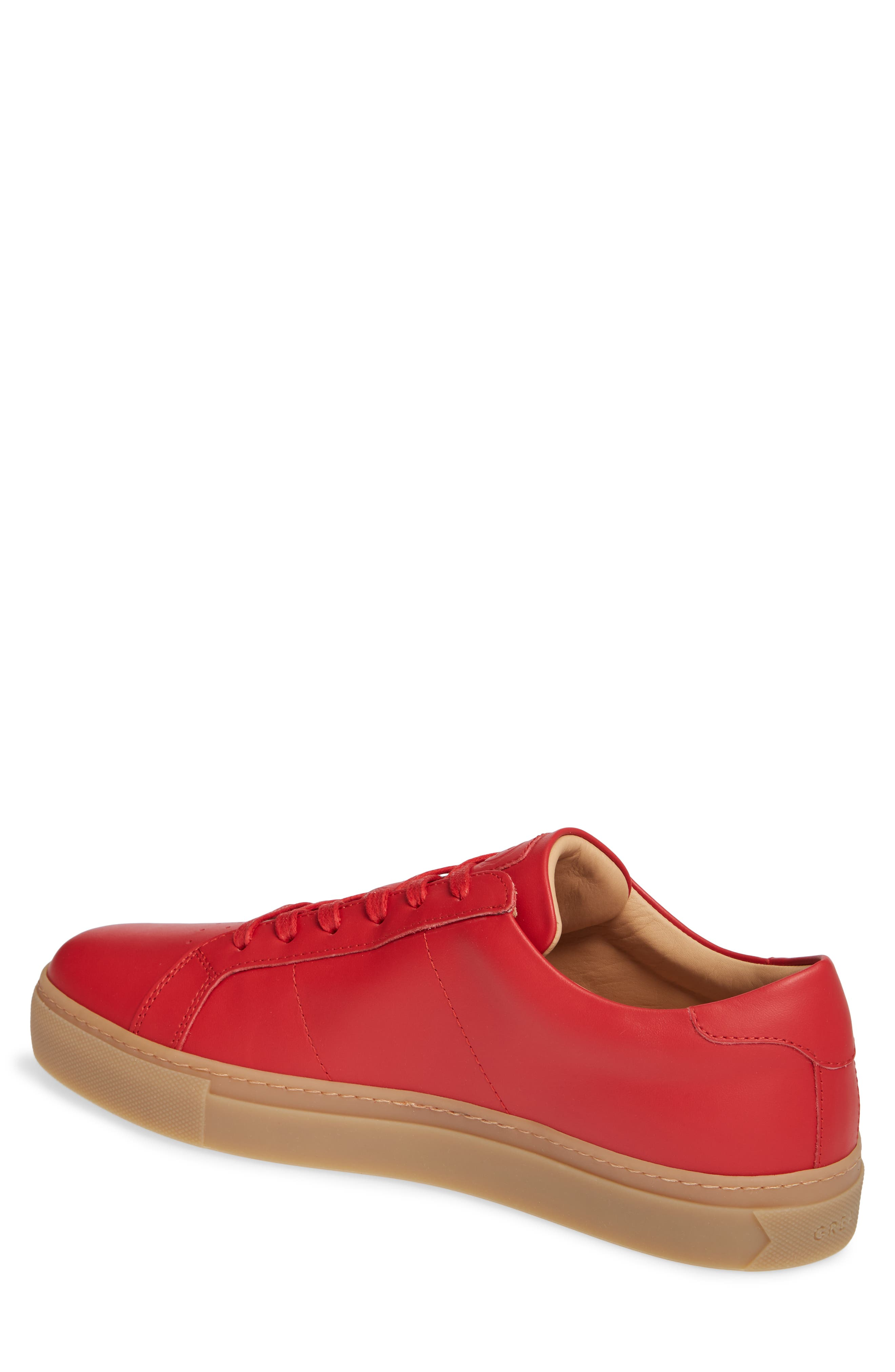 Royale Sneaker,                             Alternate thumbnail 2, color,                             RED/ GUM LEATHER