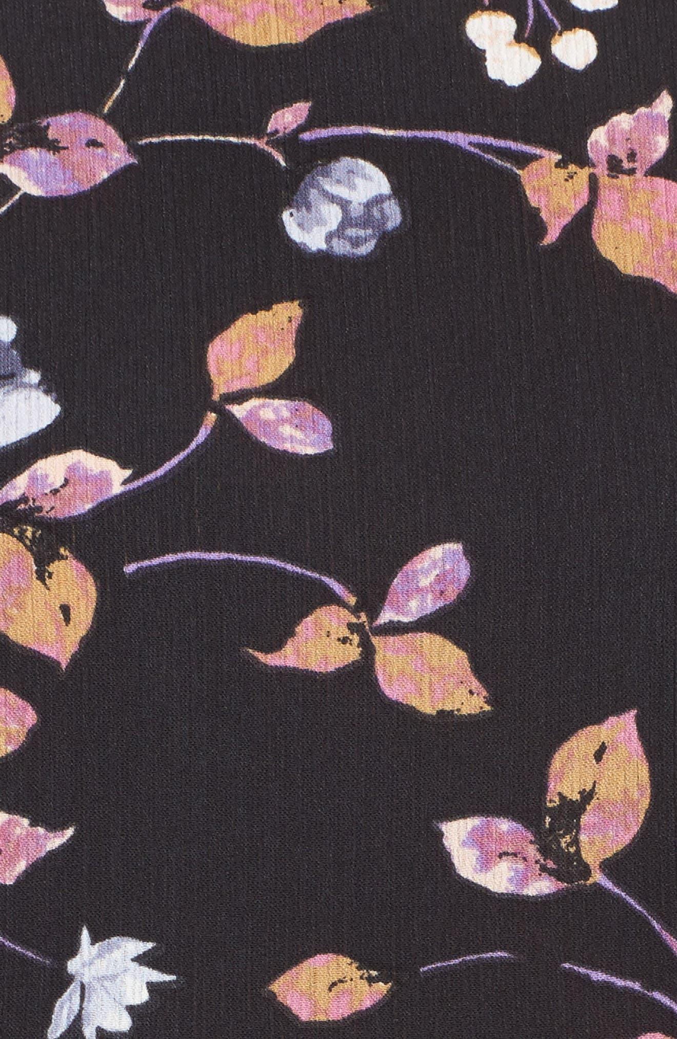 Tiered Ruffle Sleeve Peplum Blouse,                             Alternate thumbnail 5, color,                             003