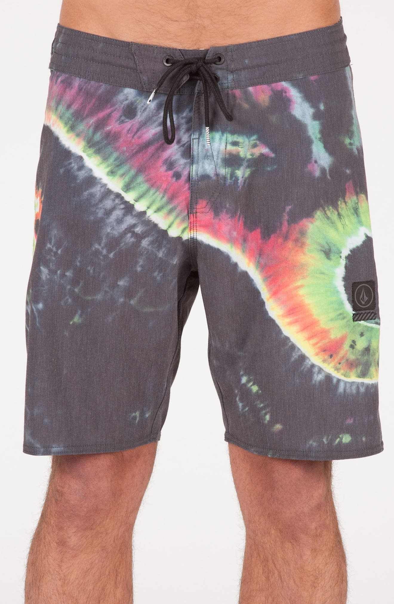 Yin Yang Slinger Board Shorts,                             Main thumbnail 1, color,                             002