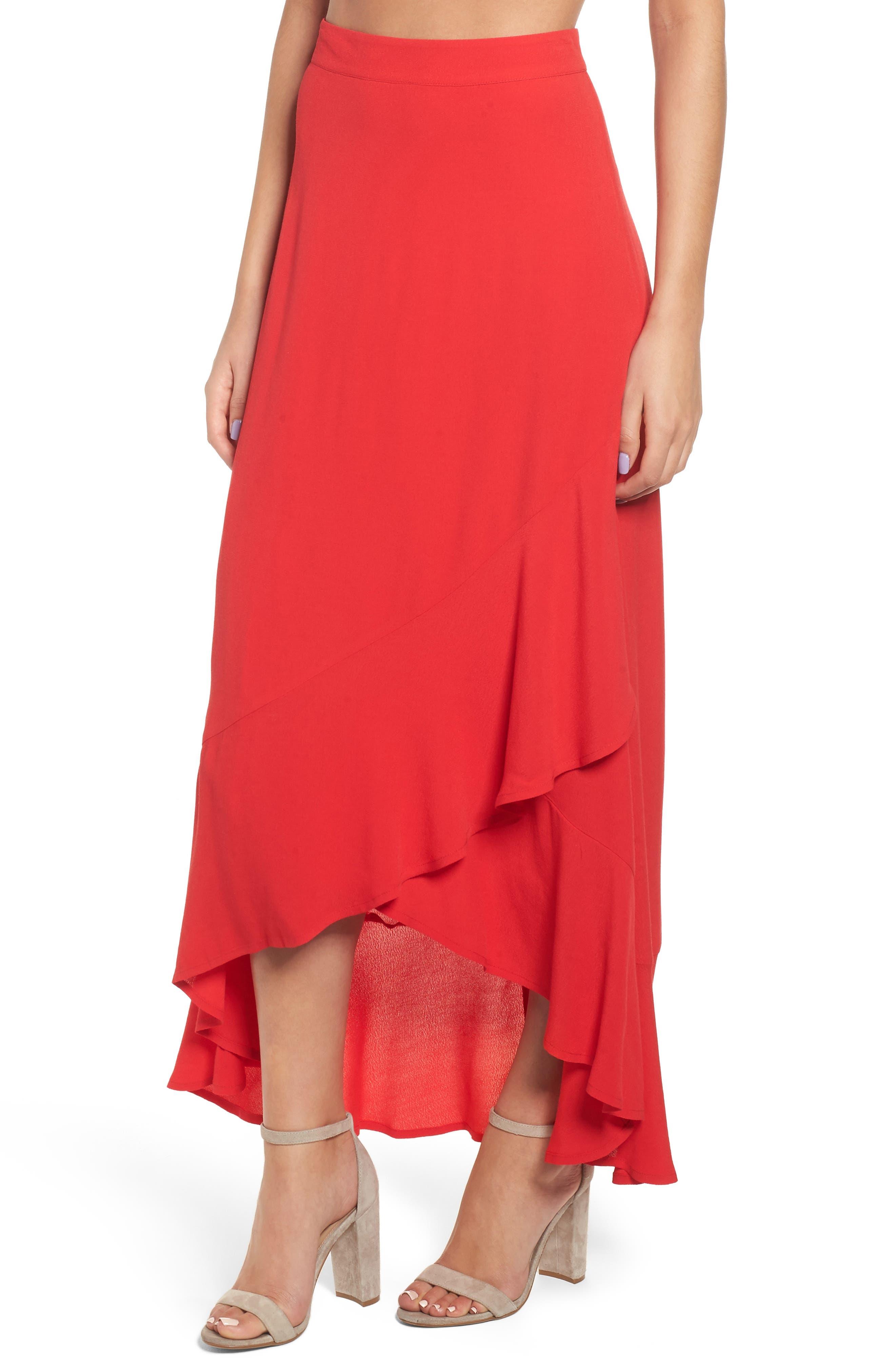 High Waist Tulip Skirt,                             Main thumbnail 1, color,                             610