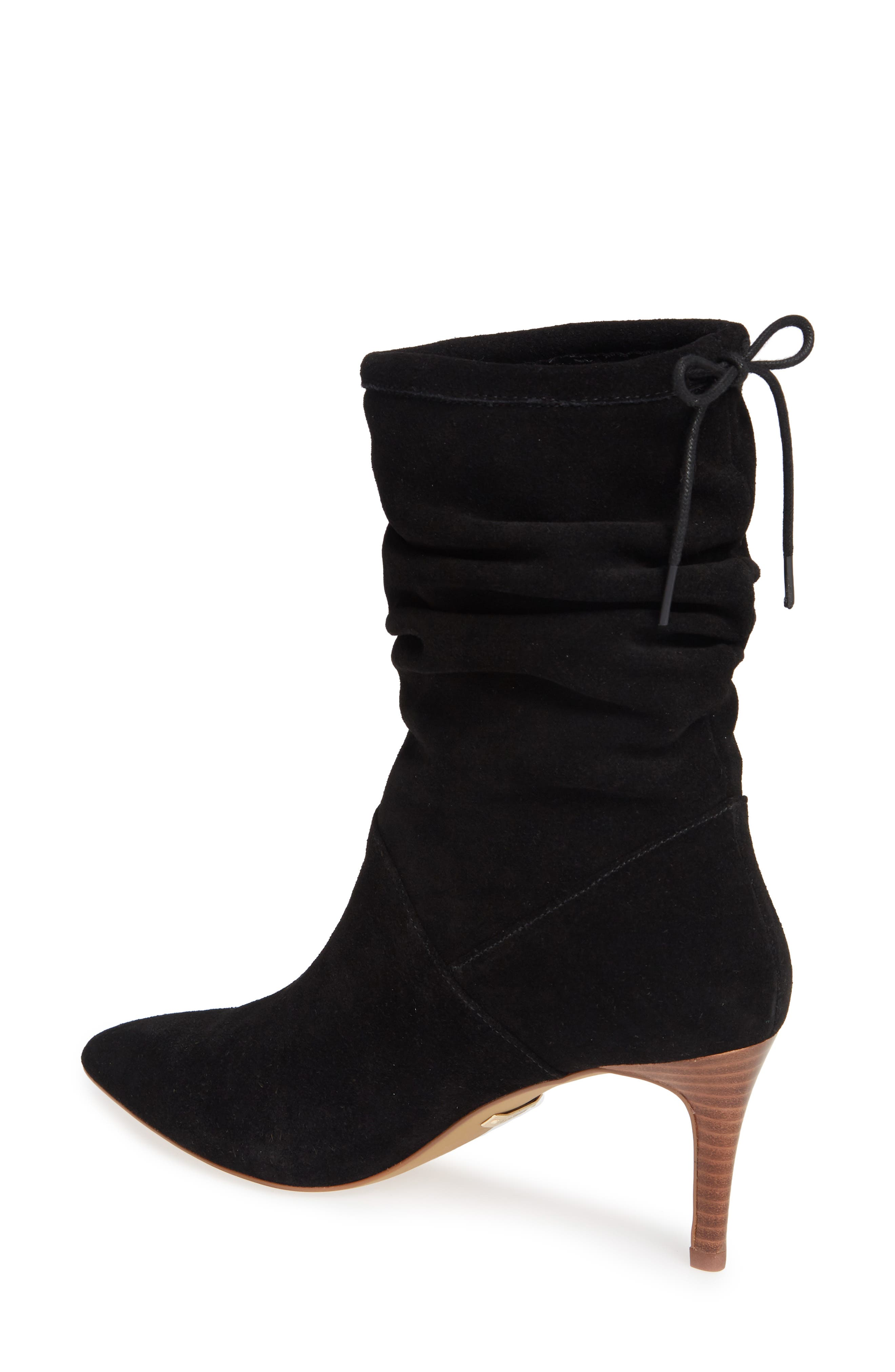 Natthan Slouchy Bootie,                             Alternate thumbnail 2, color,                             BLACK SUEDE