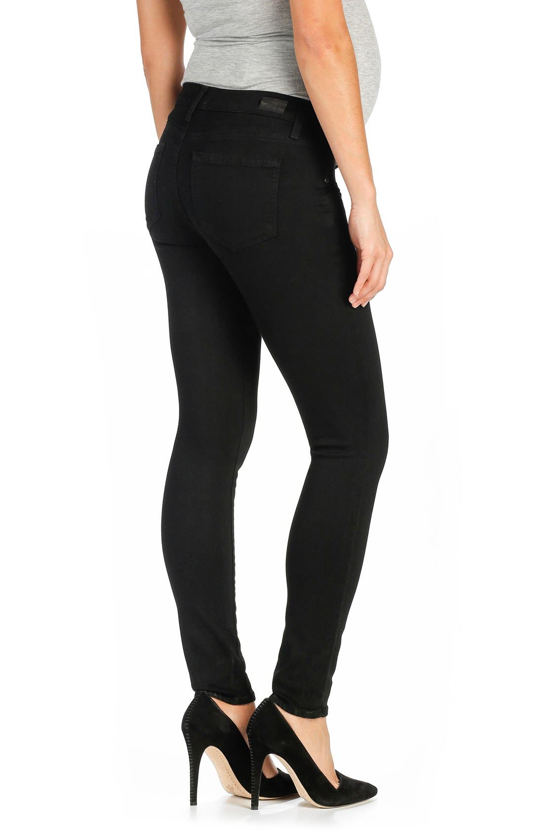 'Transcend - Verdugo Ultra Skinny Maternity Jeans,                             Alternate thumbnail 10, color,                             BLACK SHADOW
