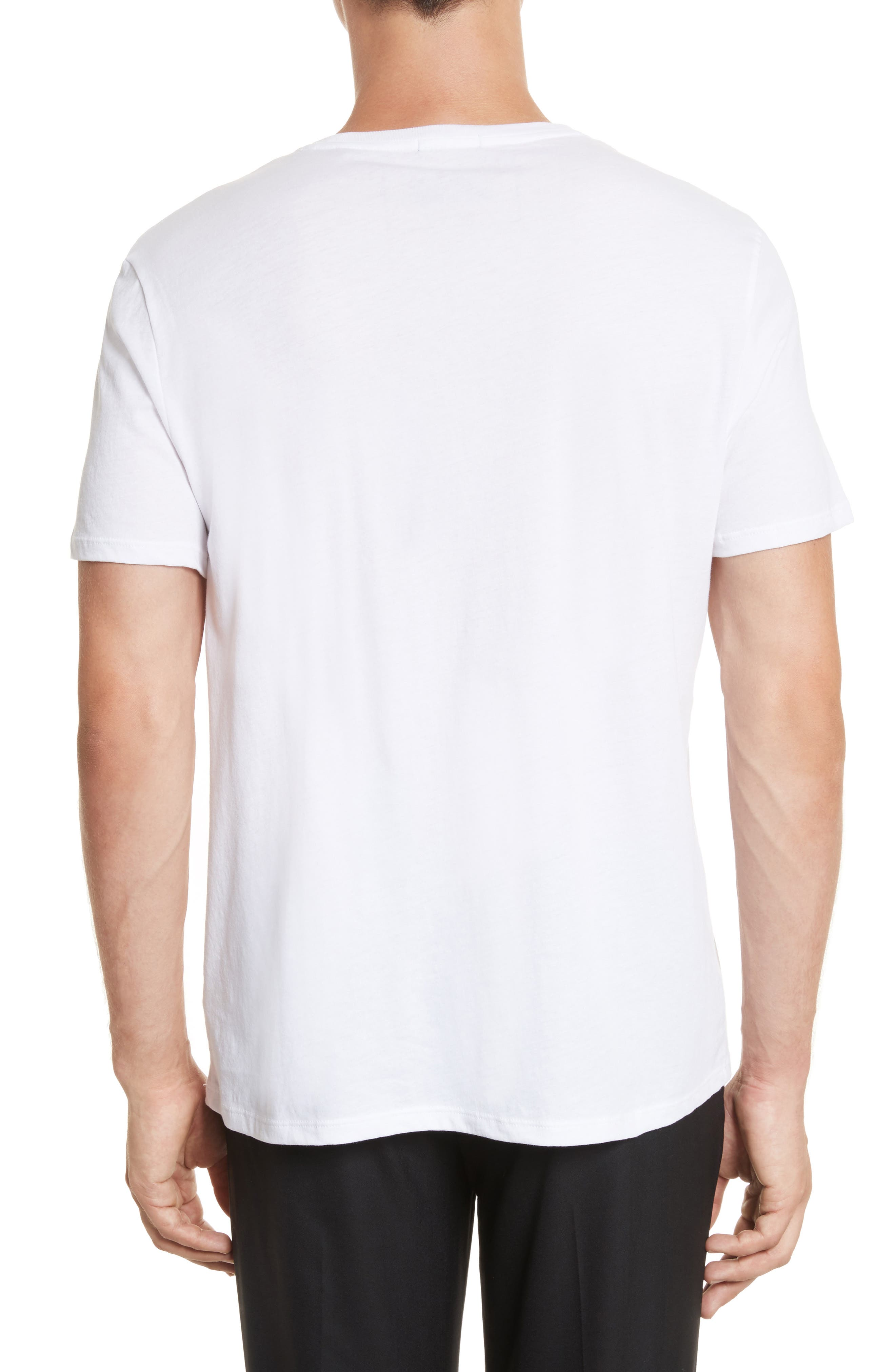 Cotton Jersey T-Shirt,                             Alternate thumbnail 2, color,                             WHITE