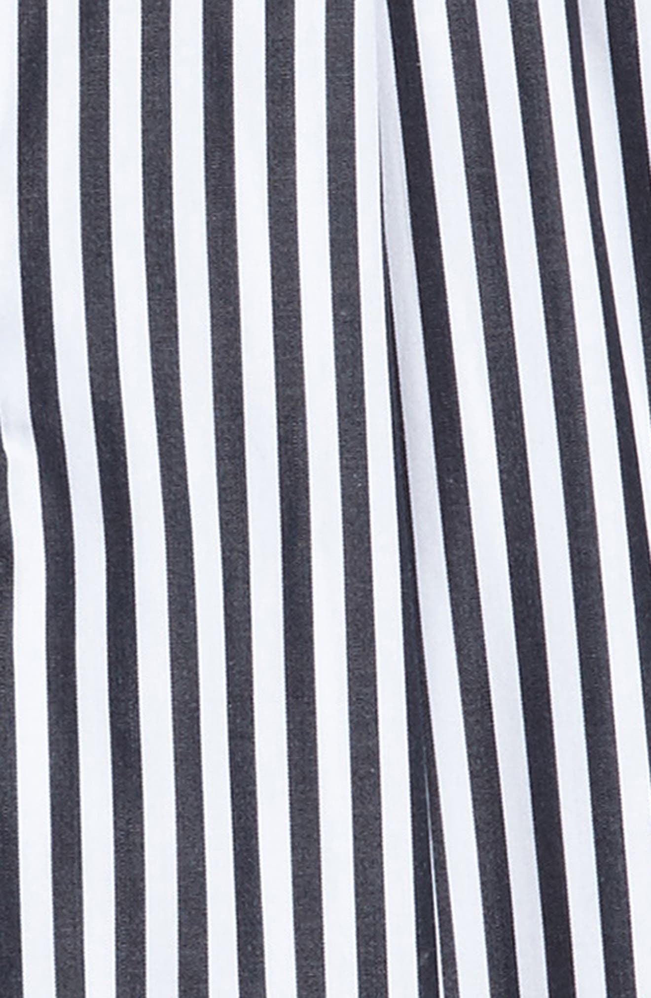 Stripe Shirtdress,                             Alternate thumbnail 3, color,                             001