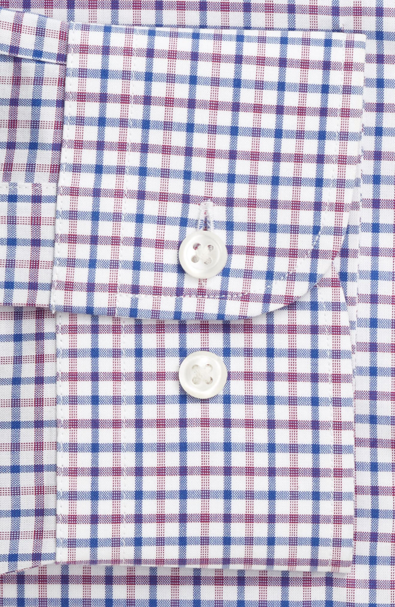 Extra Trim Fit Check Dress Shirt,                             Alternate thumbnail 24, color,