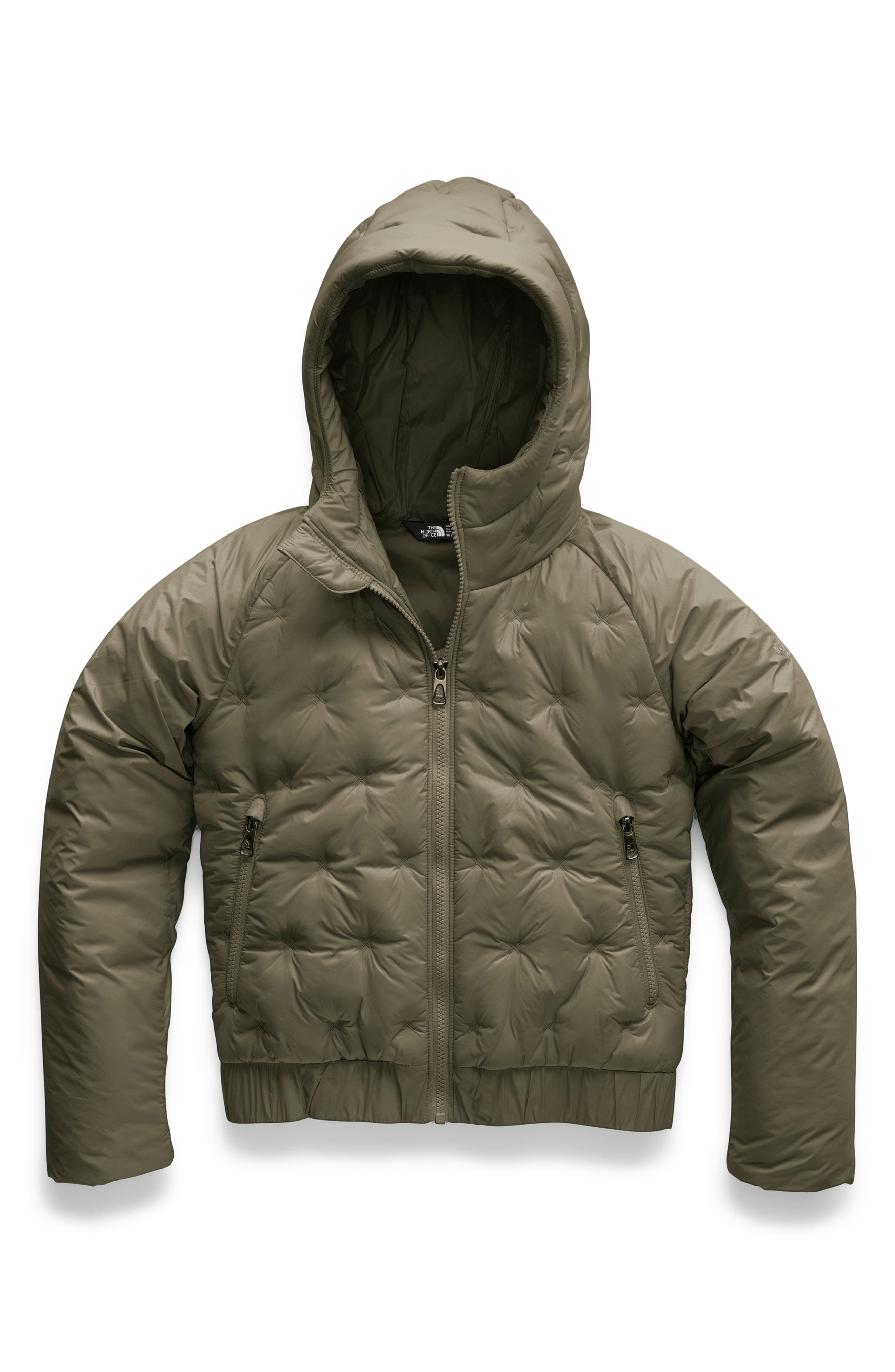 Mashup Water Repellent Heatseeker<sup>™</sup> Insulated Hoodie,                             Main thumbnail 1, color,                             NEW TAUPE GREEN