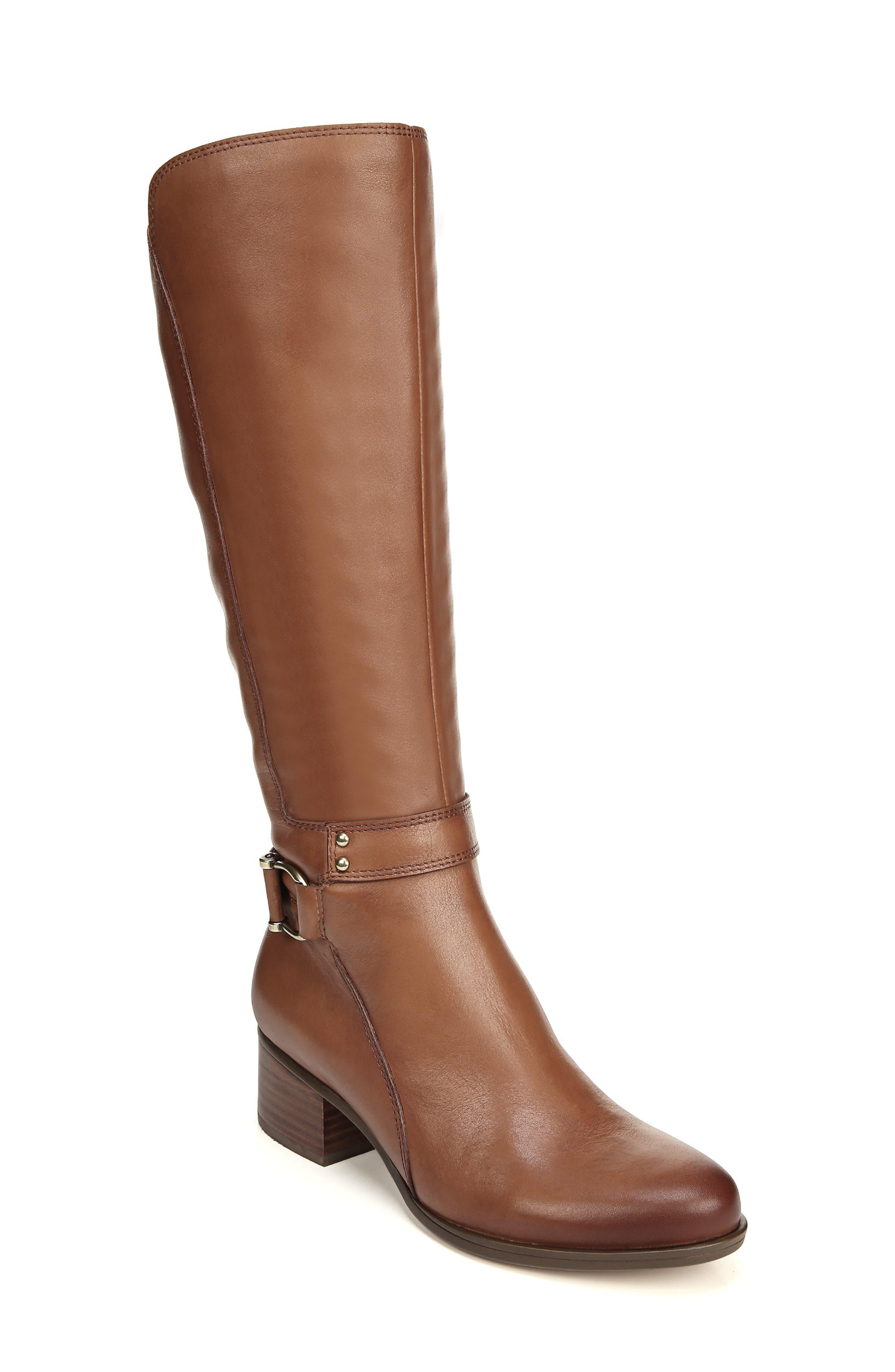 Naturalizer Dane Knee High Riding Boot Regular Calf- Brown