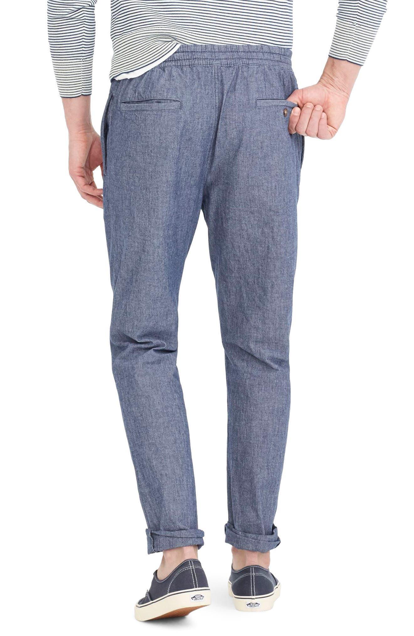 Chambray Drawstring Pants,                             Alternate thumbnail 2, color,                             402