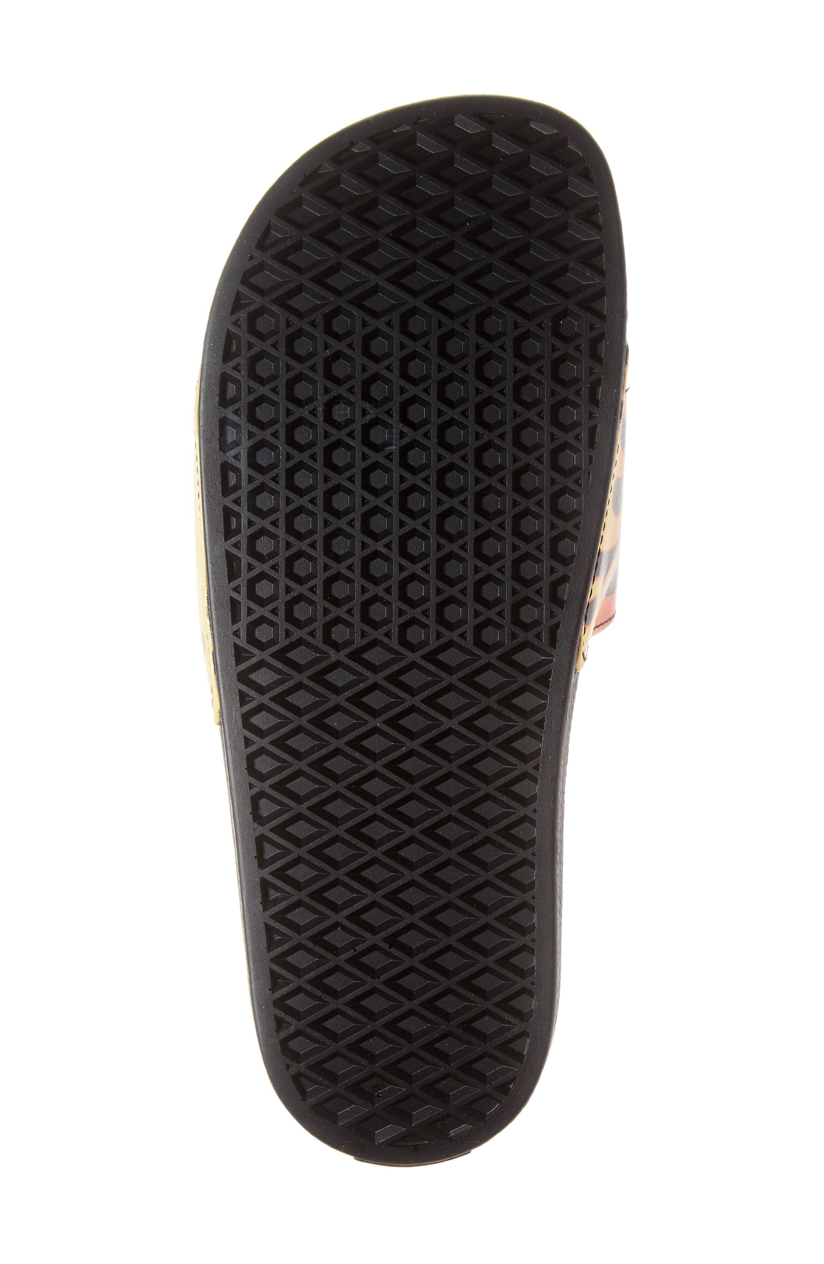 Slide-On Sandal,                             Alternate thumbnail 6, color,                             BLACK FLAME
