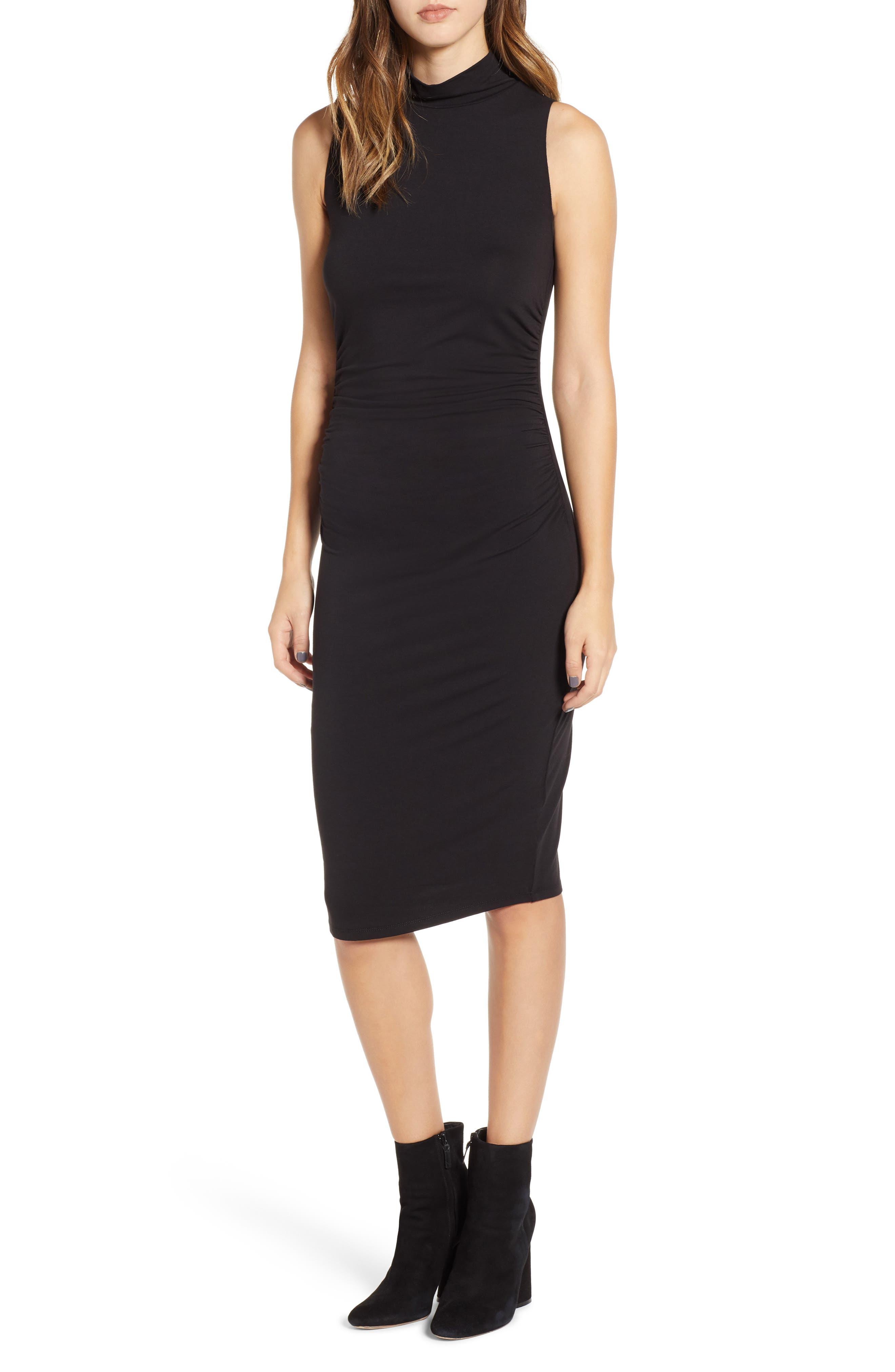 Plus Size Bp. Mock Neck Tank Dress, Black
