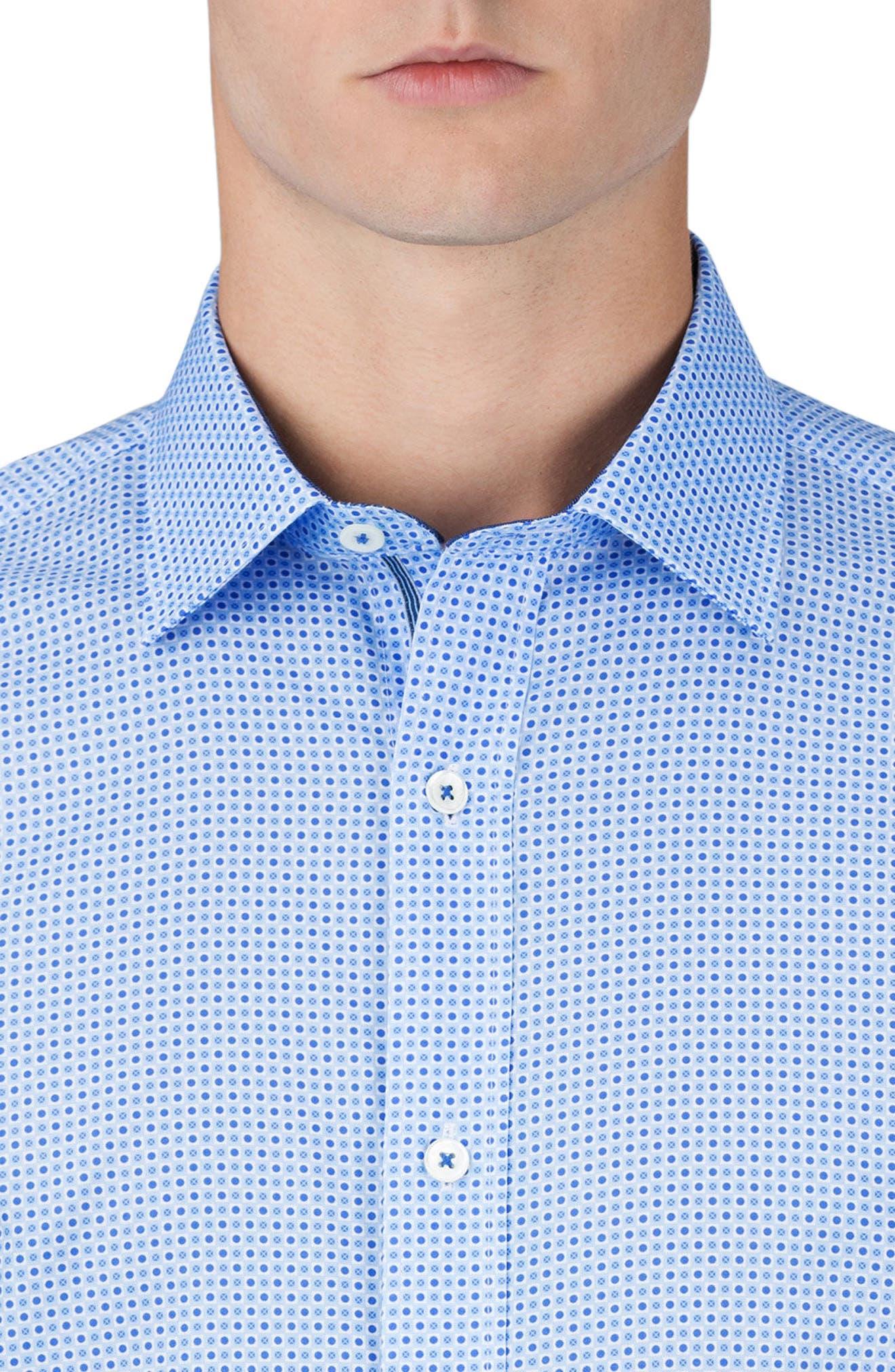 Classic Fit Dot Print Sport Shirt,                             Alternate thumbnail 3, color,                             459