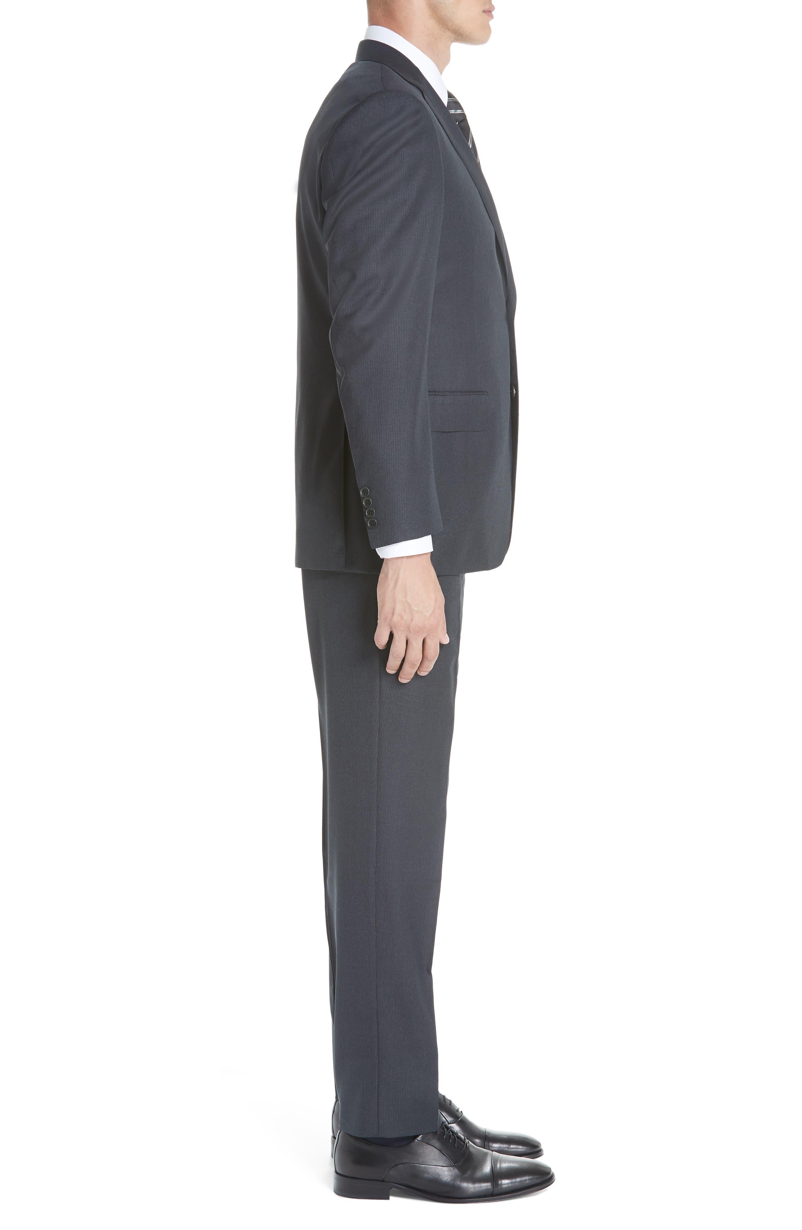 Classic Fit Stripe Wool Suit,                             Alternate thumbnail 3, color,                             020
