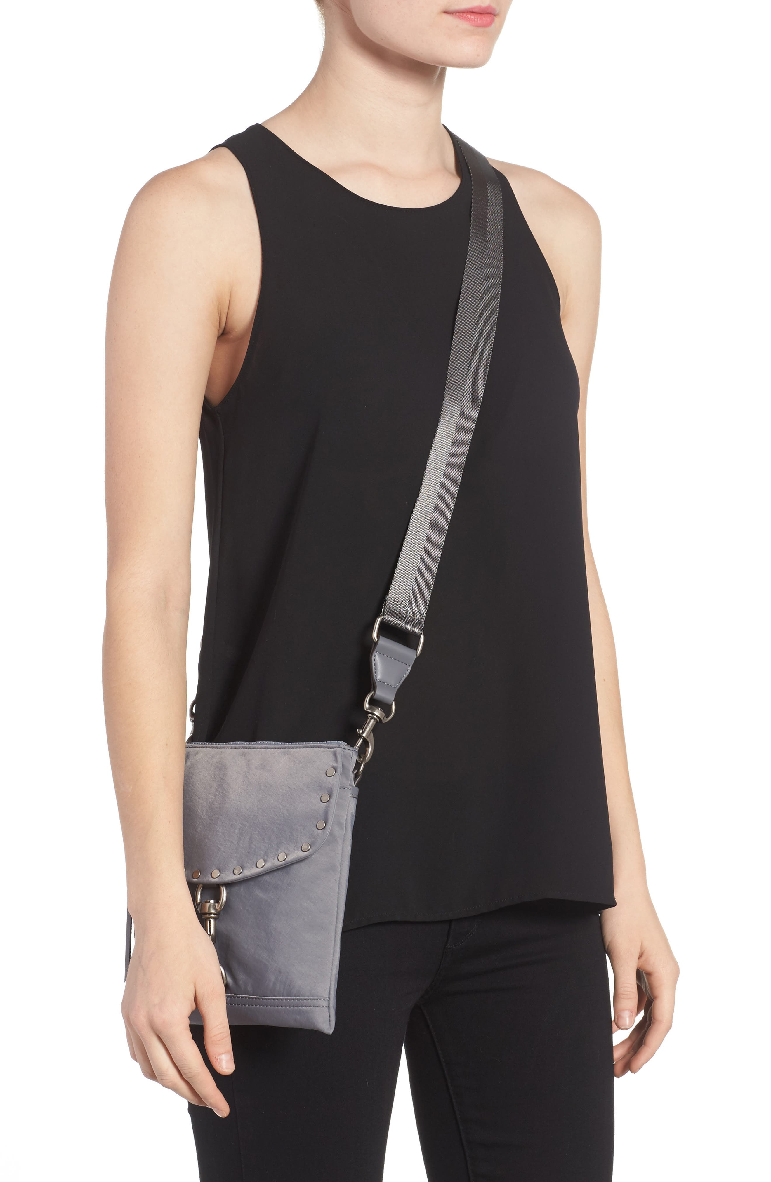 Nylon Flap Crossbody Bag,                             Alternate thumbnail 8, color,