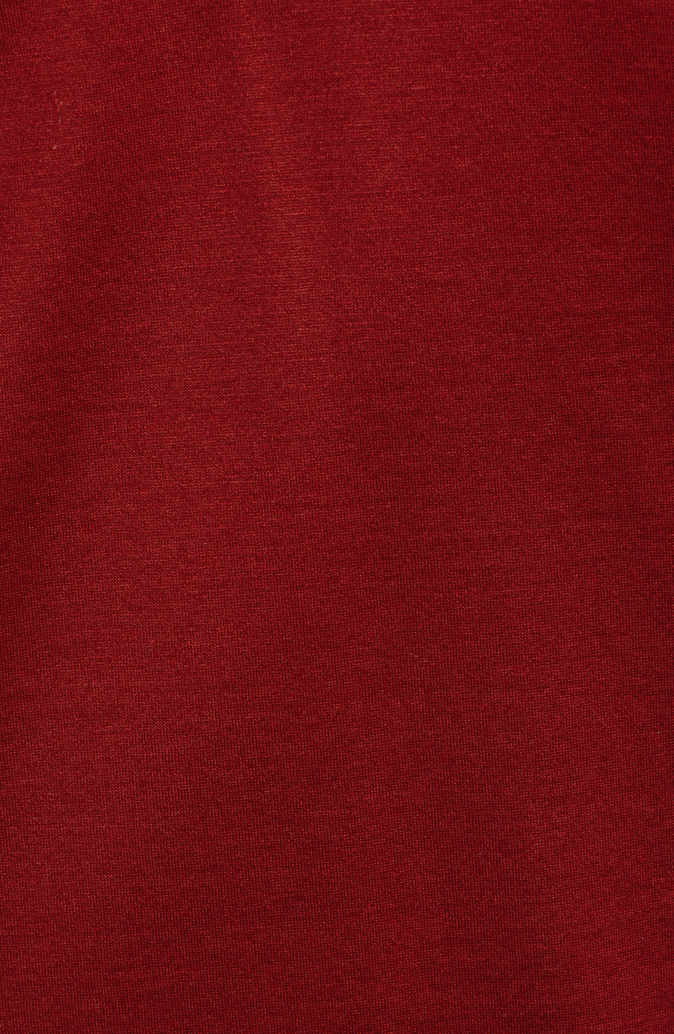 Pleins Slim Fit Long Sleeve Polo,                             Alternate thumbnail 5, color,                             RED