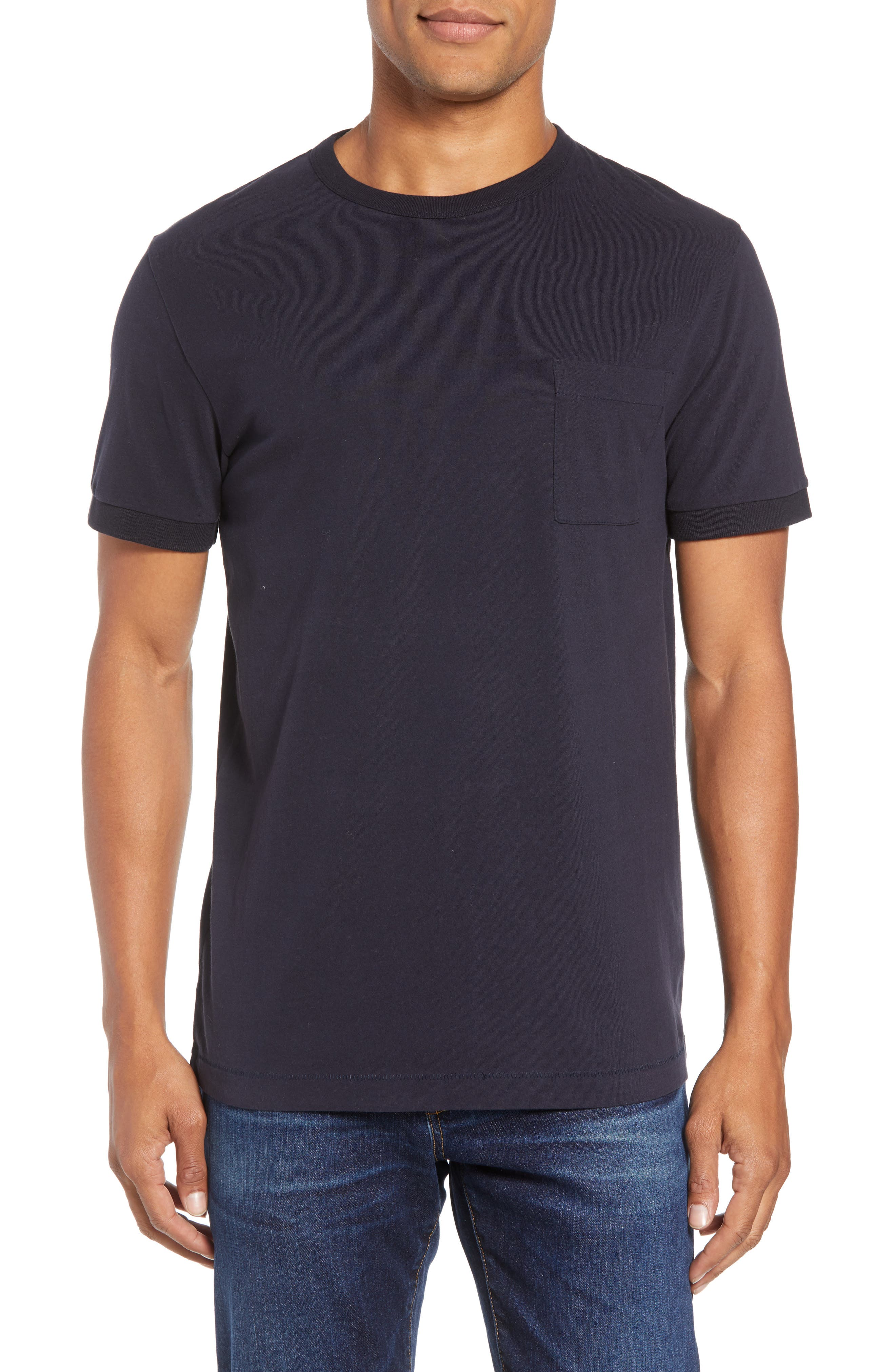 FRENCH CONNECTION Finish T-Shirt, Main, color, UTILITY BLUE