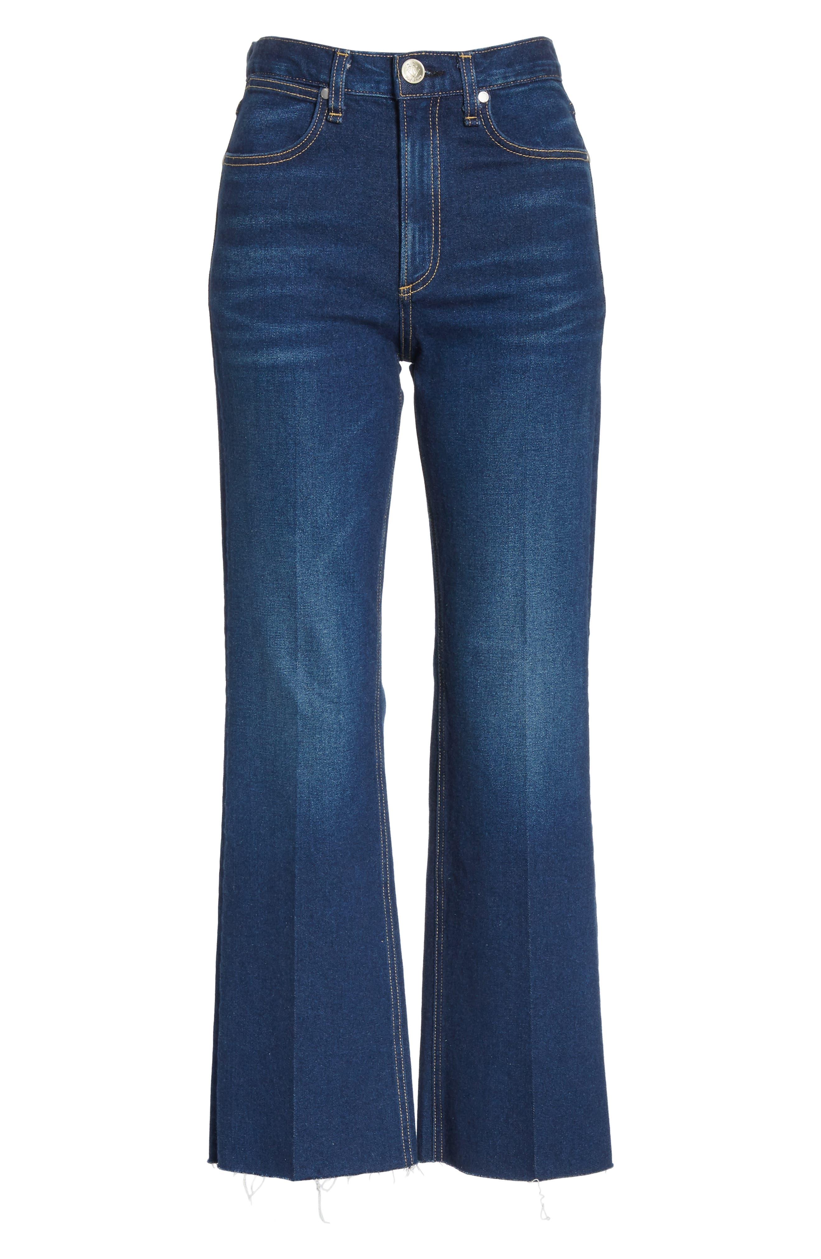 RAG & BONE,                             Justine High Waist Crop Wide Leg Jeans,                             Alternate thumbnail 7, color,                             410