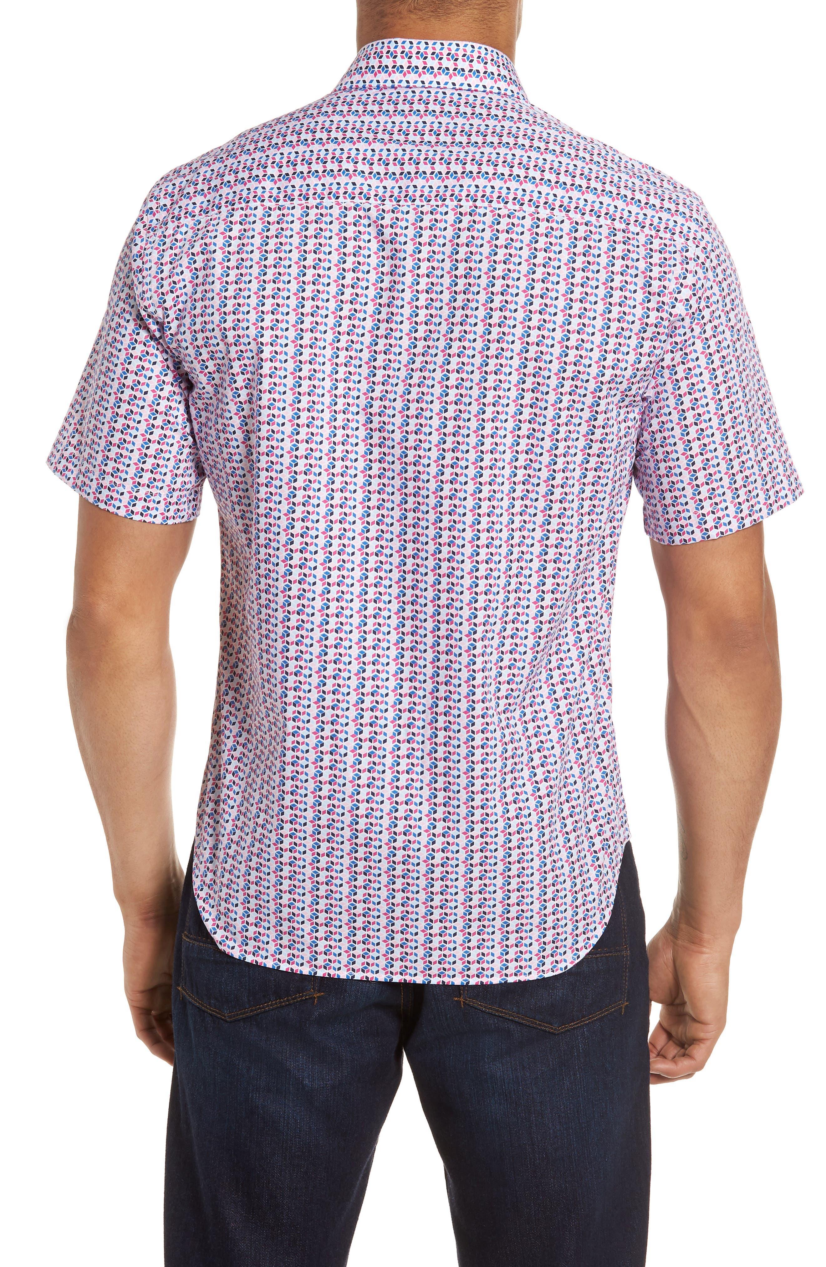 Slater Regular Fit Print Sport Shirt,                             Alternate thumbnail 2, color,                             650
