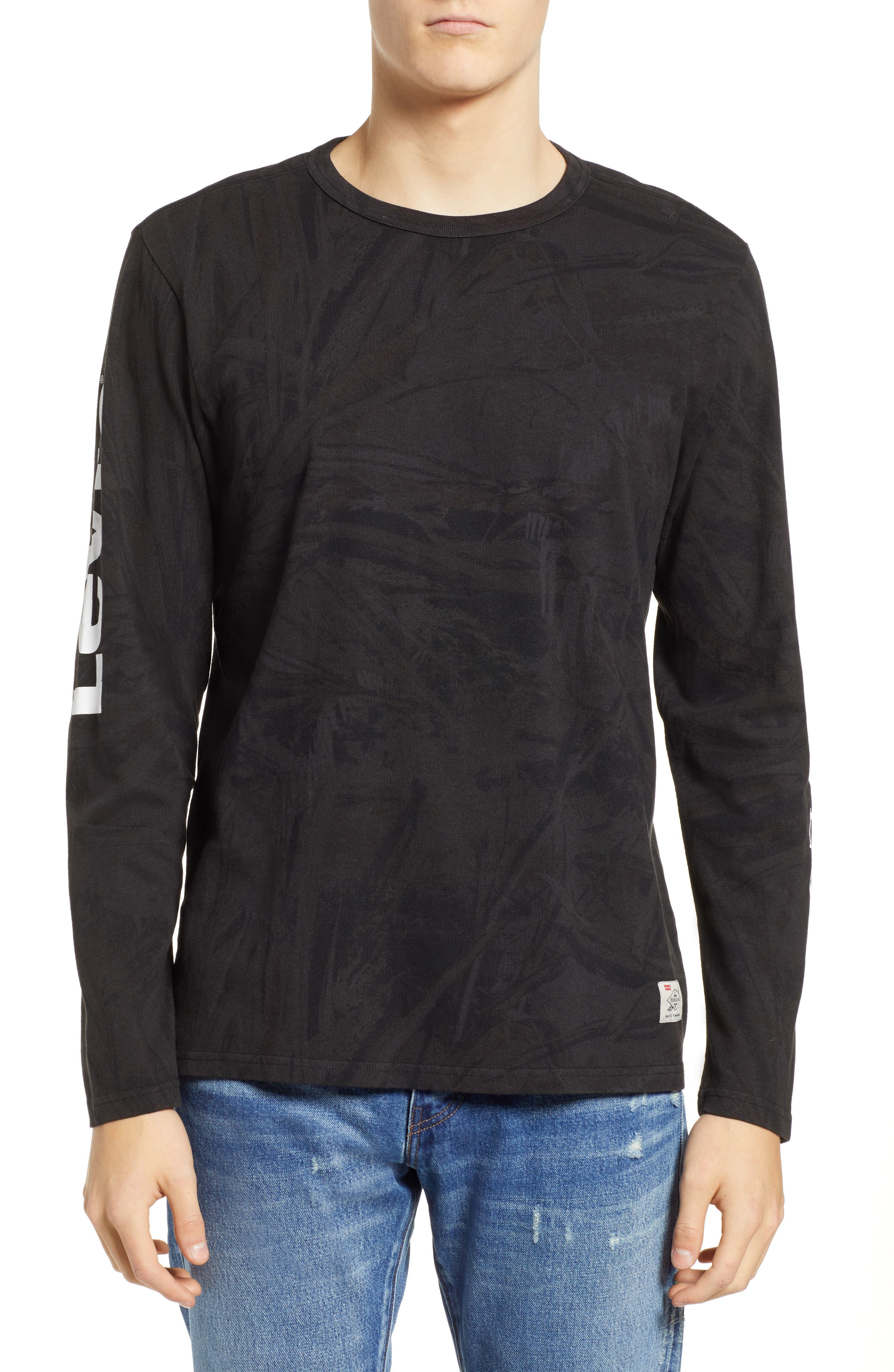 x Justin Timberlake Camo Long Sleeve T-Shirt,                         Main,                         color, BLACK