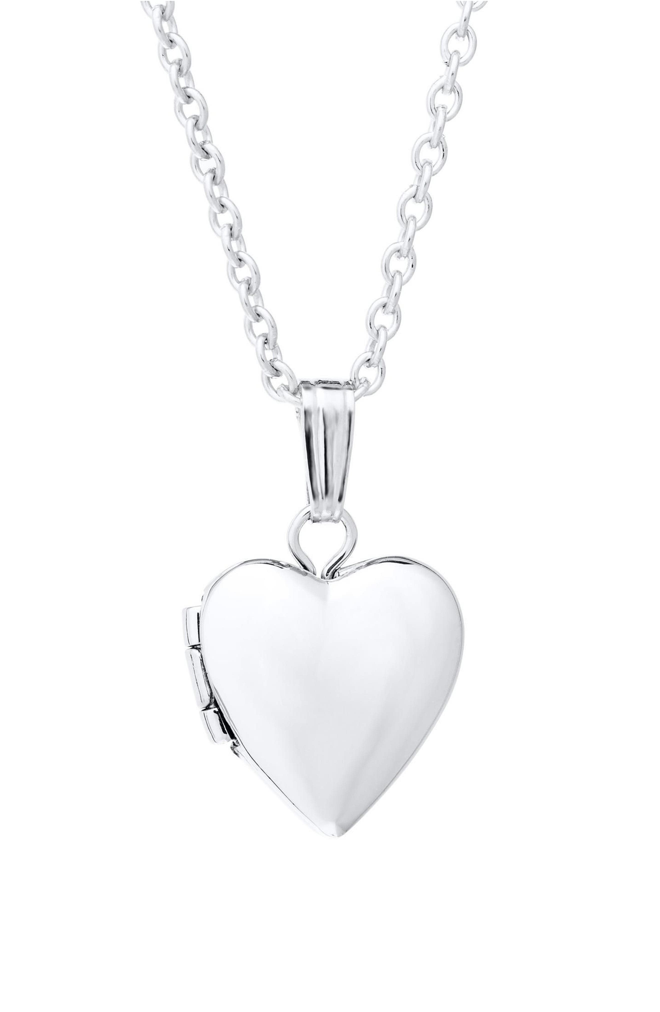 Sterling Silver Locket Necklace,                         Main,                         color, SILVER