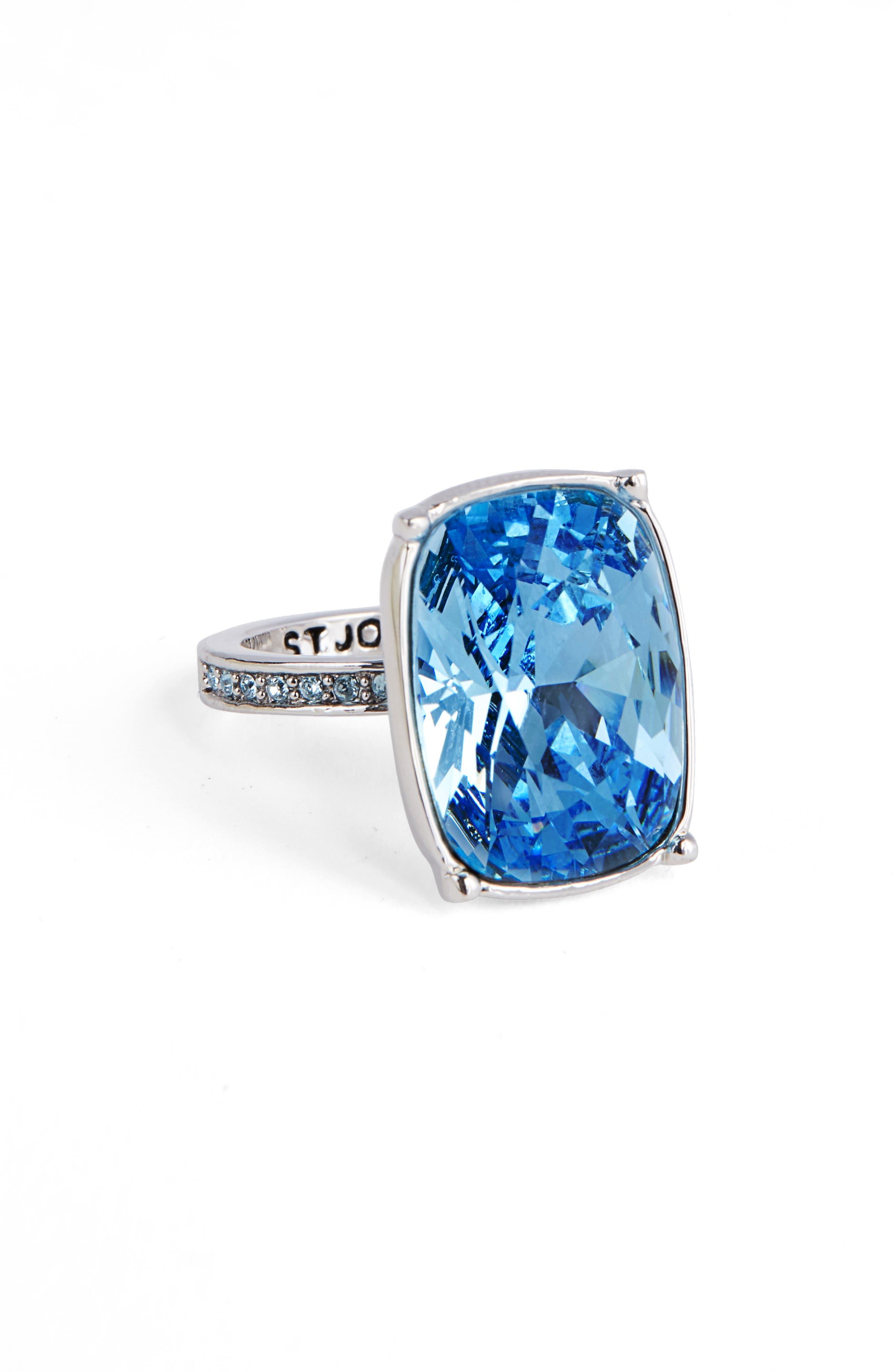 Swarovski Crystal Cocktail Ring,                             Main thumbnail 1, color,                             040