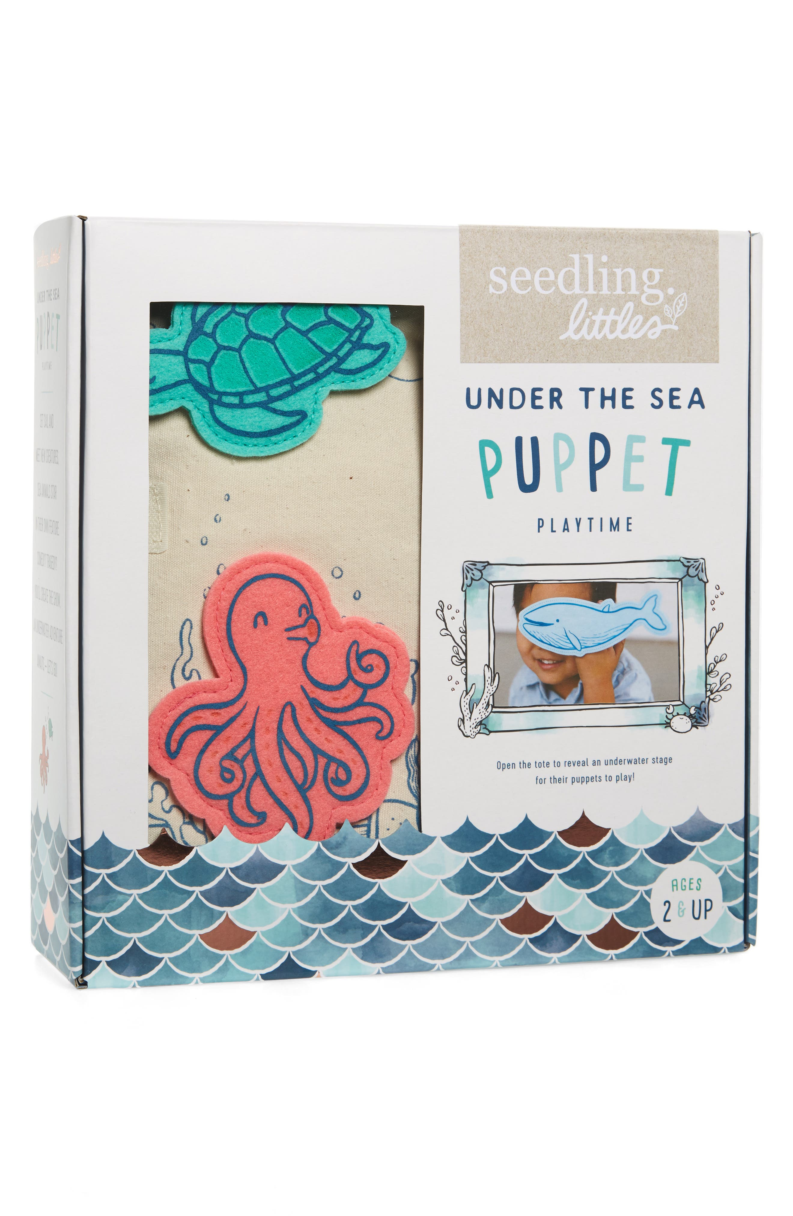 Under the Sea Puppet Playtime Kit,                             Main thumbnail 1, color,                             800