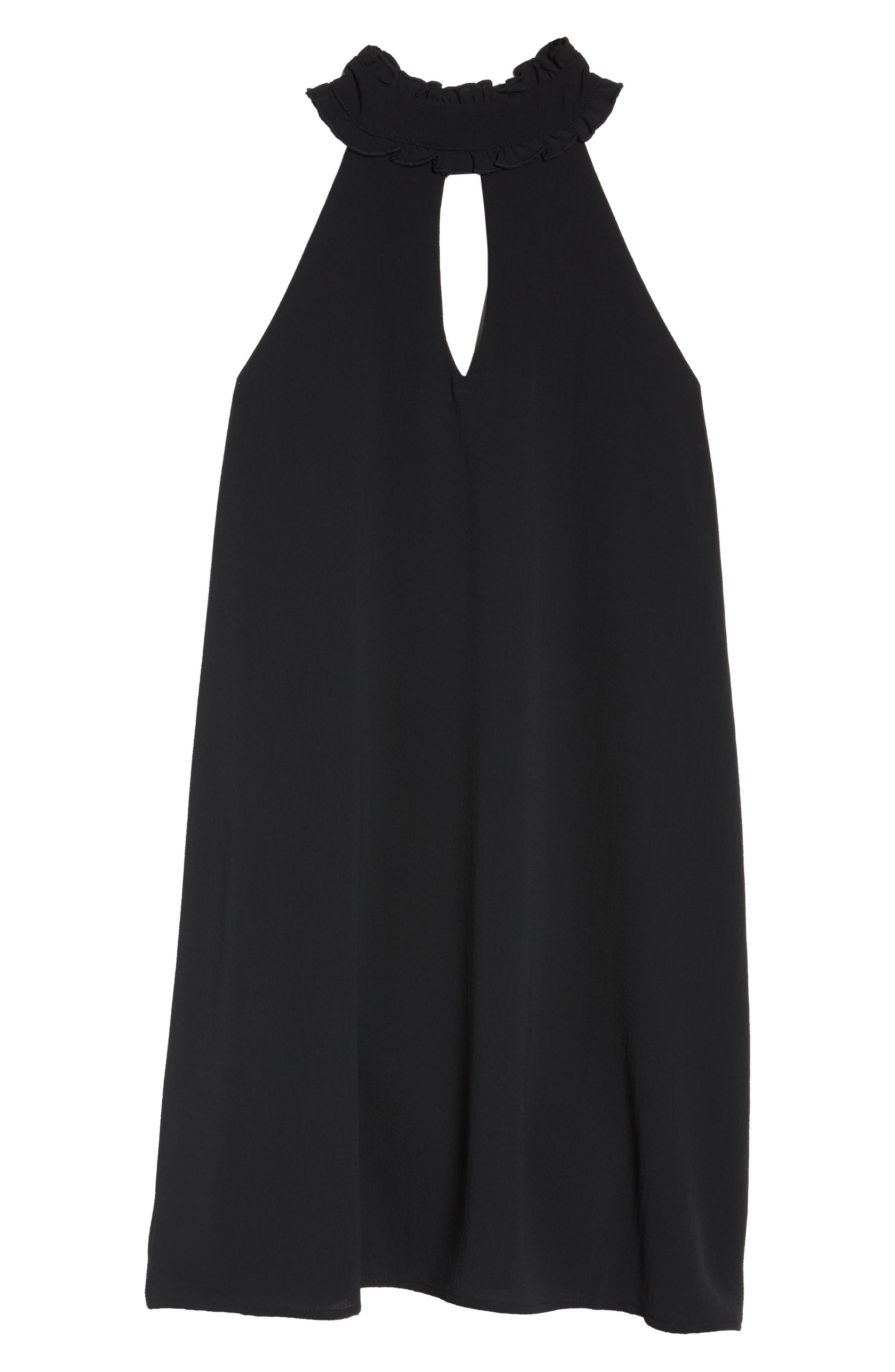 Sleeveless Choker Collar Trapeze Dress,                             Alternate thumbnail 11, color,