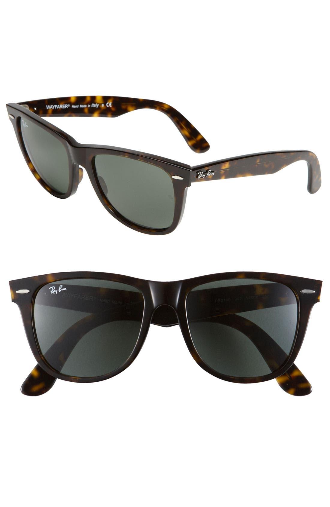 'Classic Wayfarer' 50mm Sunglasses,                         Main,                         color, TORTOISE