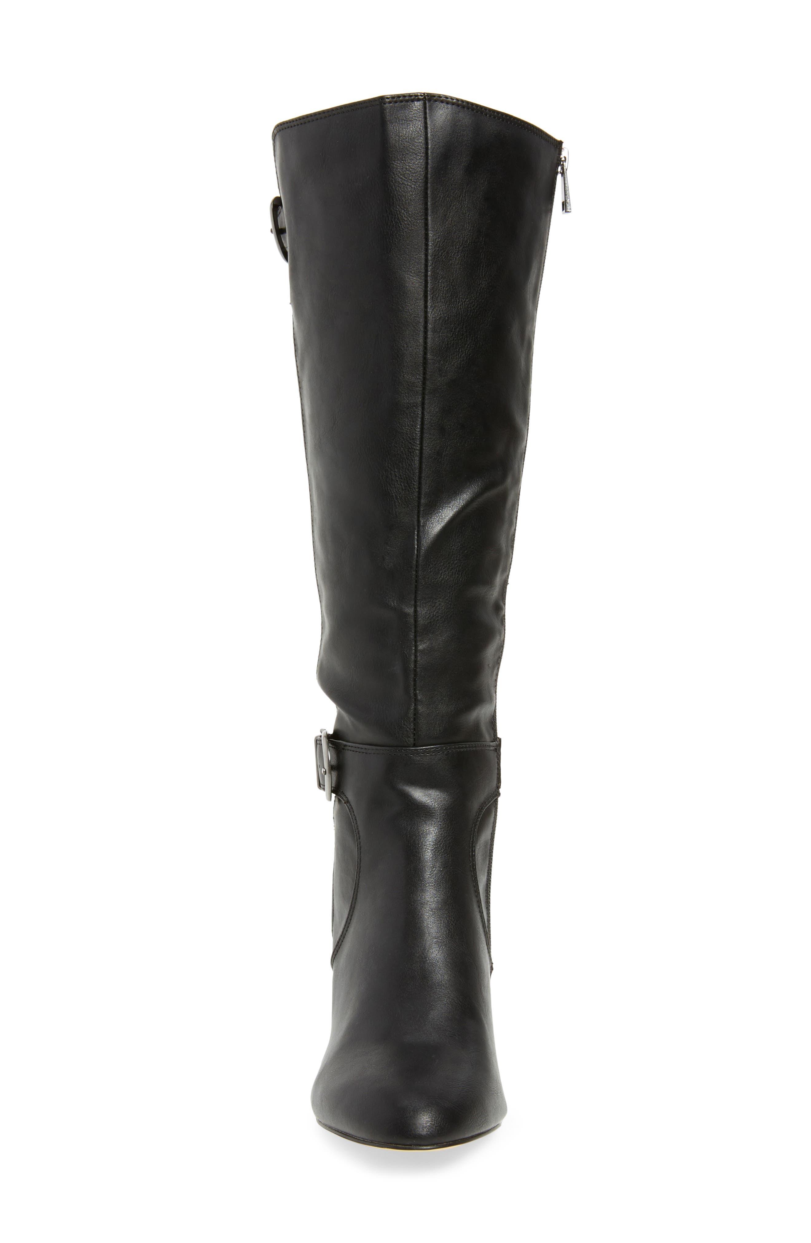 Toni II Knee High Boot,                             Alternate thumbnail 4, color,                             BLACK