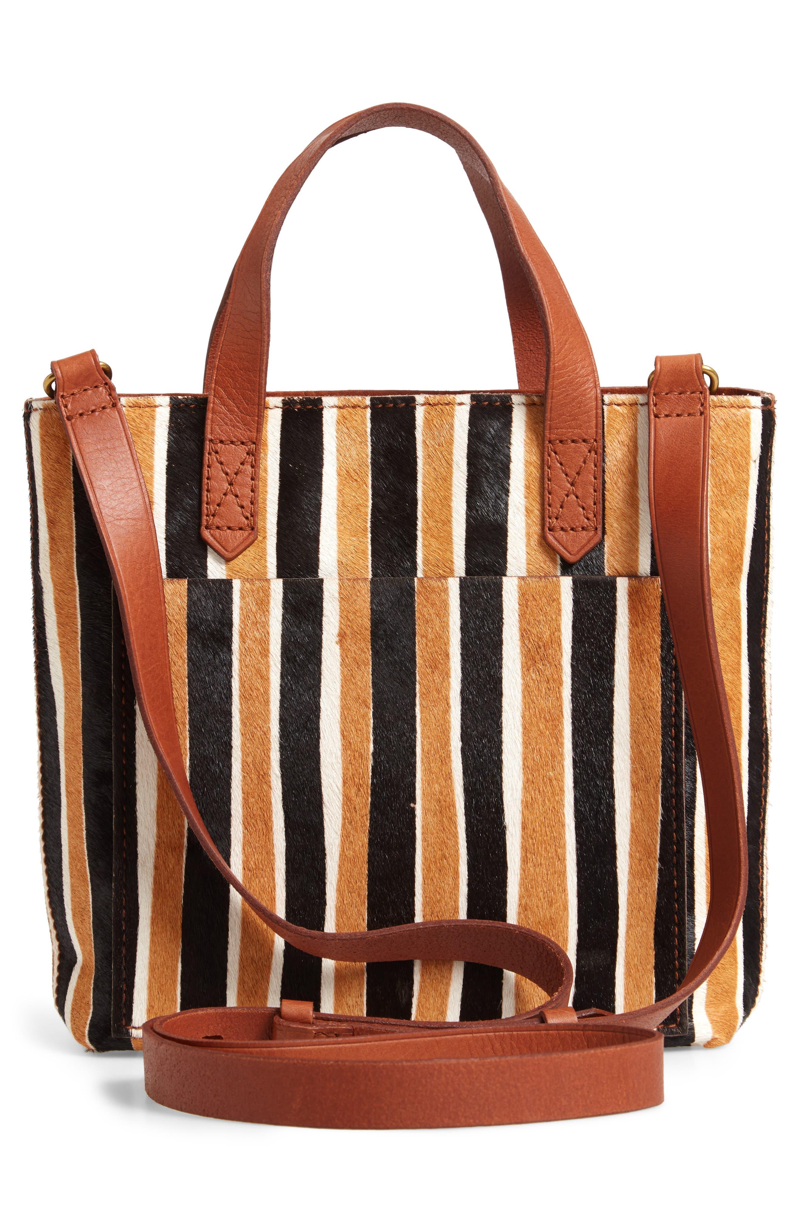 The Small Transport Genuine Calf Hair Crossbody Bag,                             Alternate thumbnail 3, color,                             ACORN MULTI